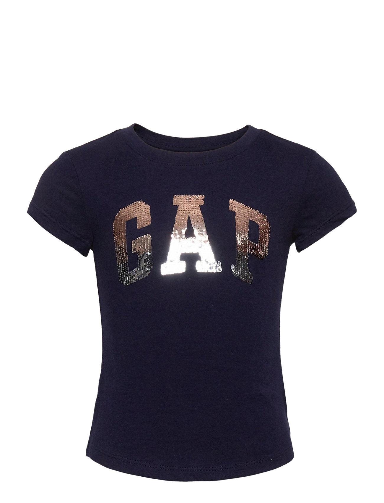 GAP Ie Flippy Logo Tee T-shirts Short-sleeved Sininen GAP