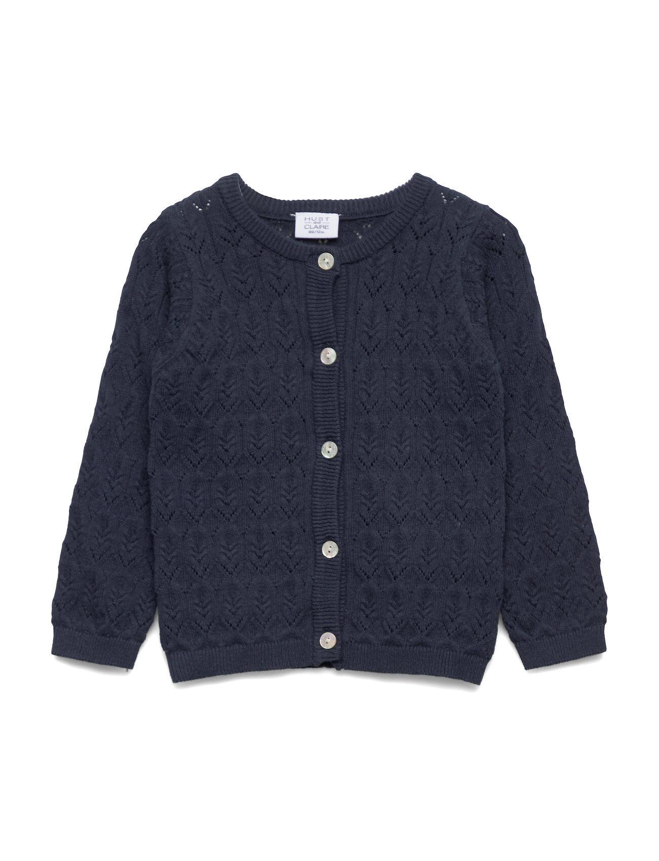 Hust & Claire Cheri - Knit Jacket Neuletakki Sininen Hust & Claire