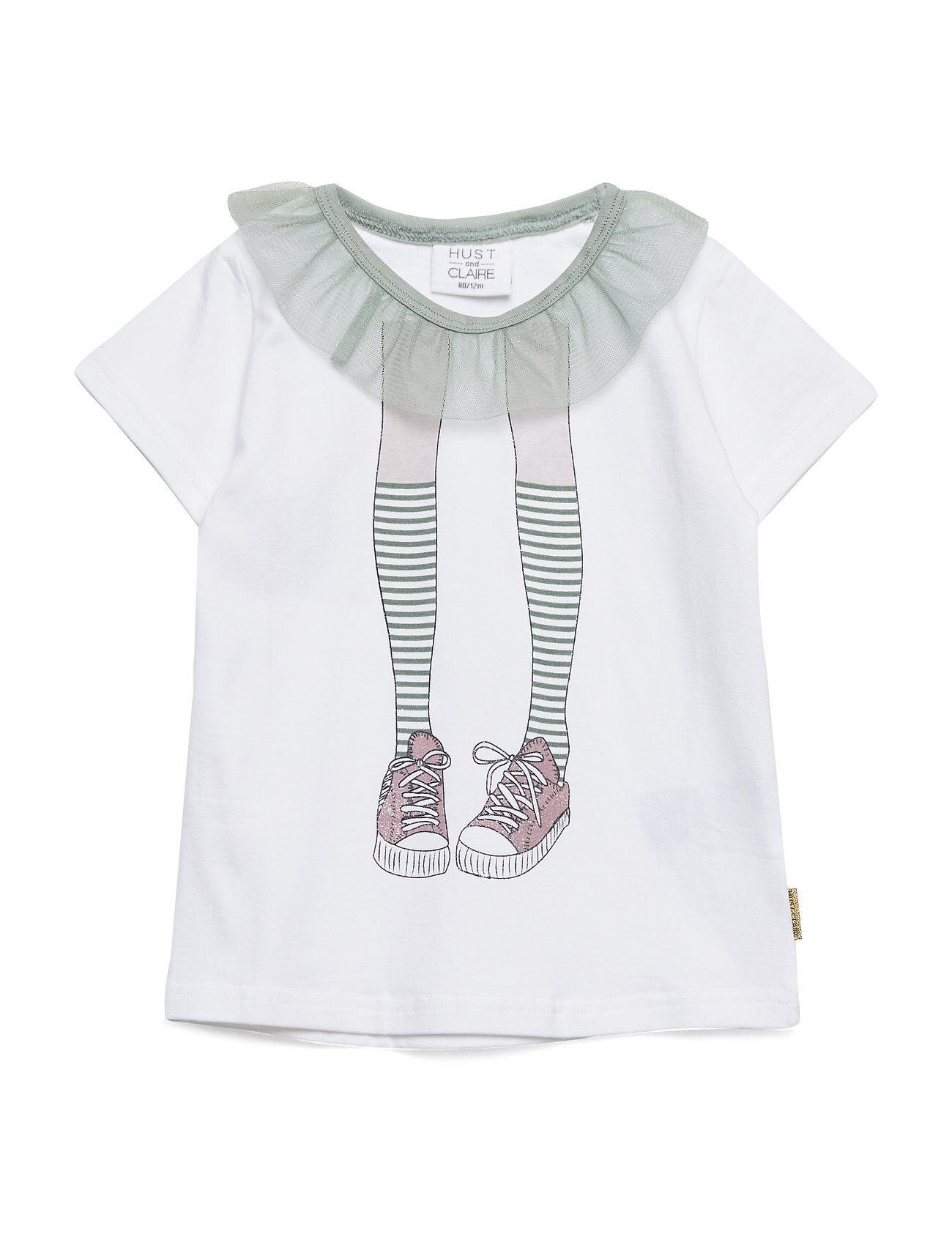 Hust & Claire Audrey - T-Shirt S/S T-shirts Short-sleeved Valkoinen Hust & Claire