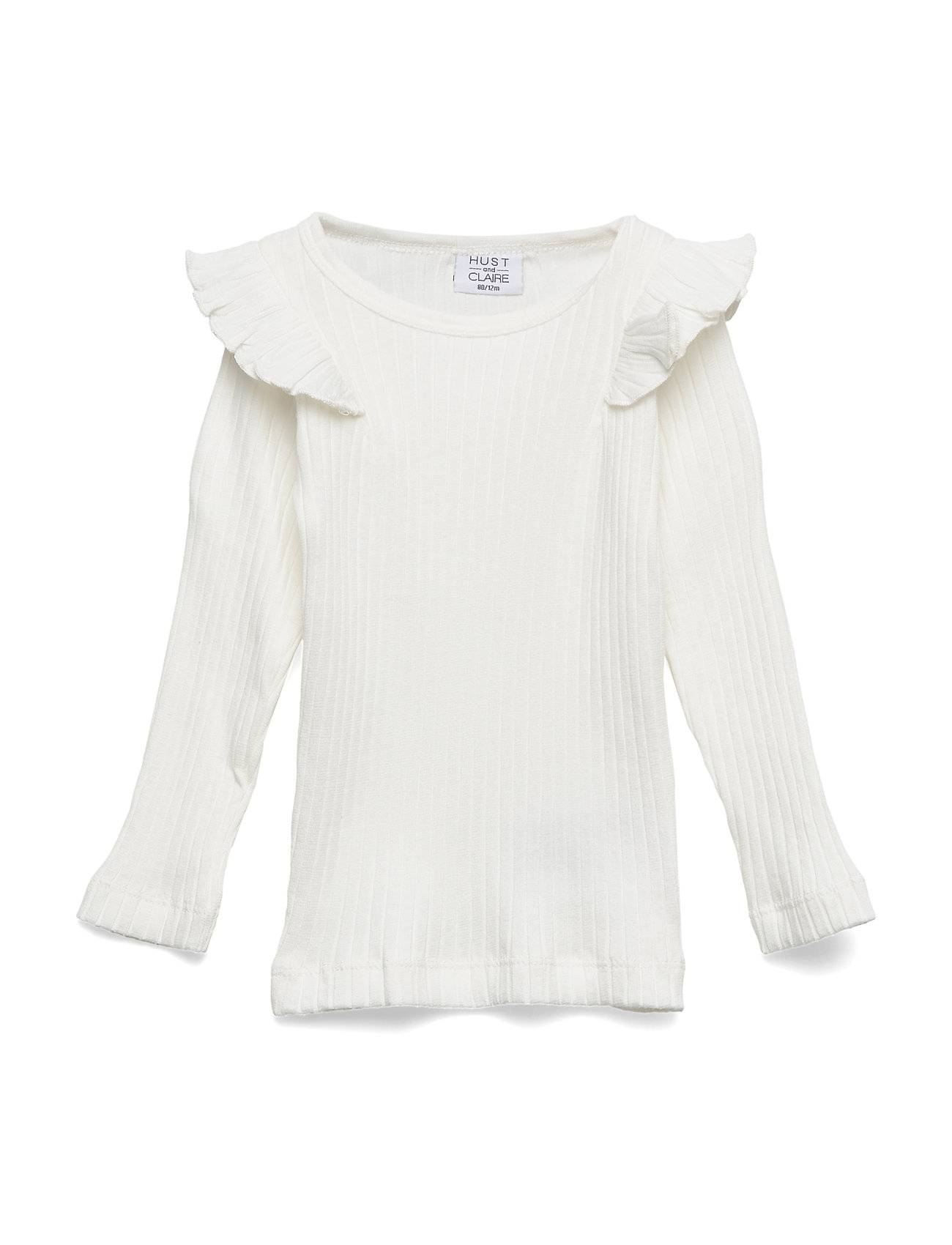 Hust & Claire Alexia - T-Shirt S/S T-shirts Long-sleeved T-shirts Valkoinen Hust & Claire