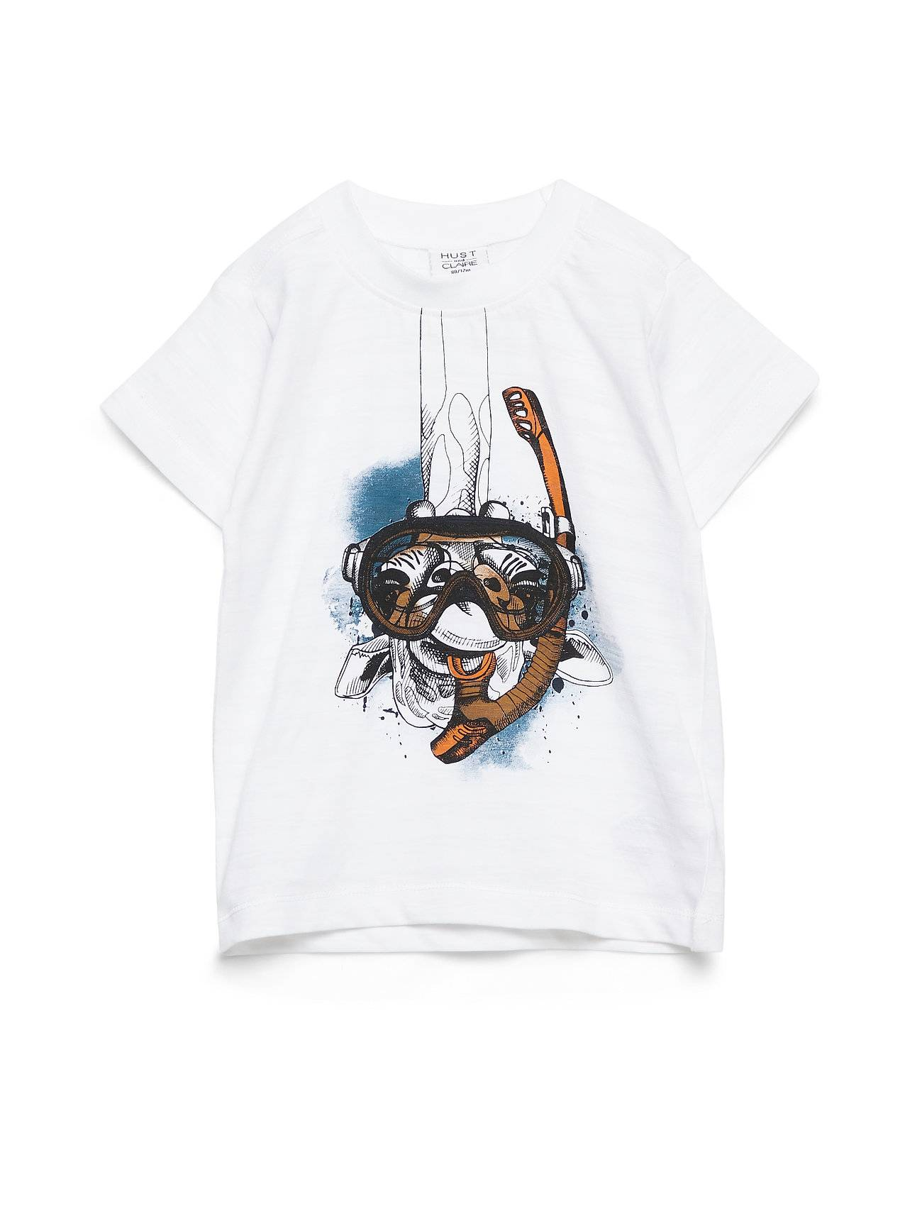 Hust & Claire Arthur - T-Shirt S/S T-shirts Short-sleeved Valkoinen Hust & Claire