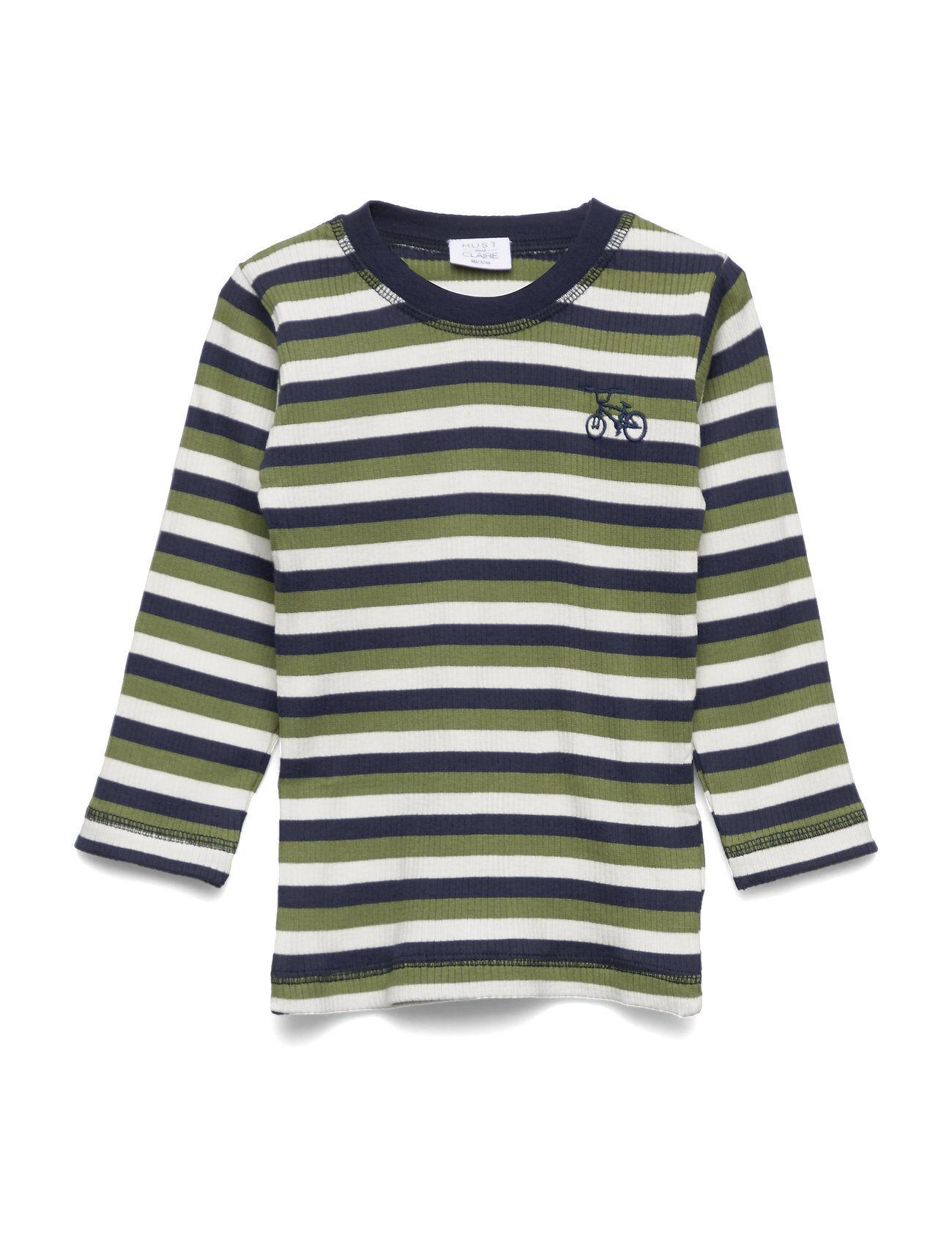 Hust & Claire Asp - T-Shirt L/S T-shirts Long-sleeved T-shirts Vihreä Hust & Claire