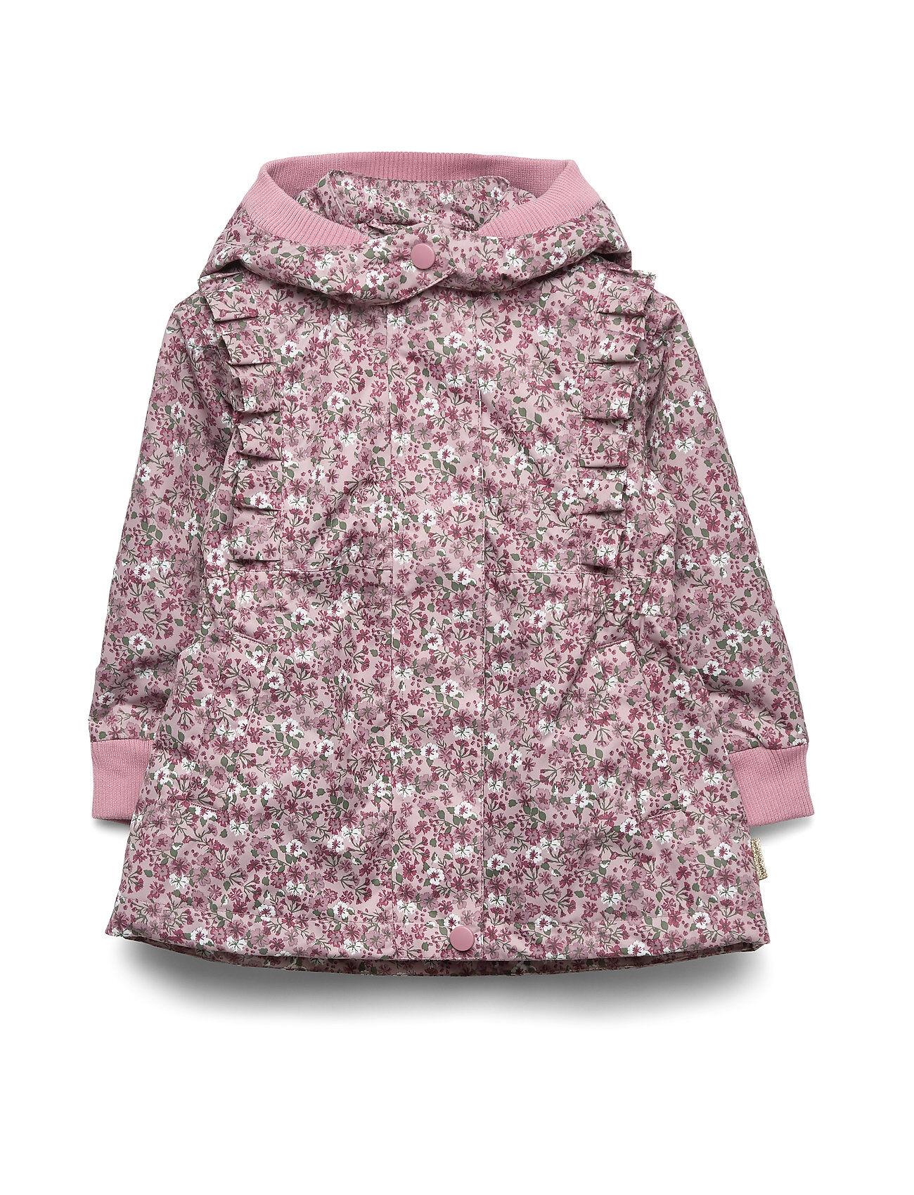 Hust & Claire Ofelise - Jacket Outerwear Rainwear Jackets Vaaleanpunainen Hust & Claire