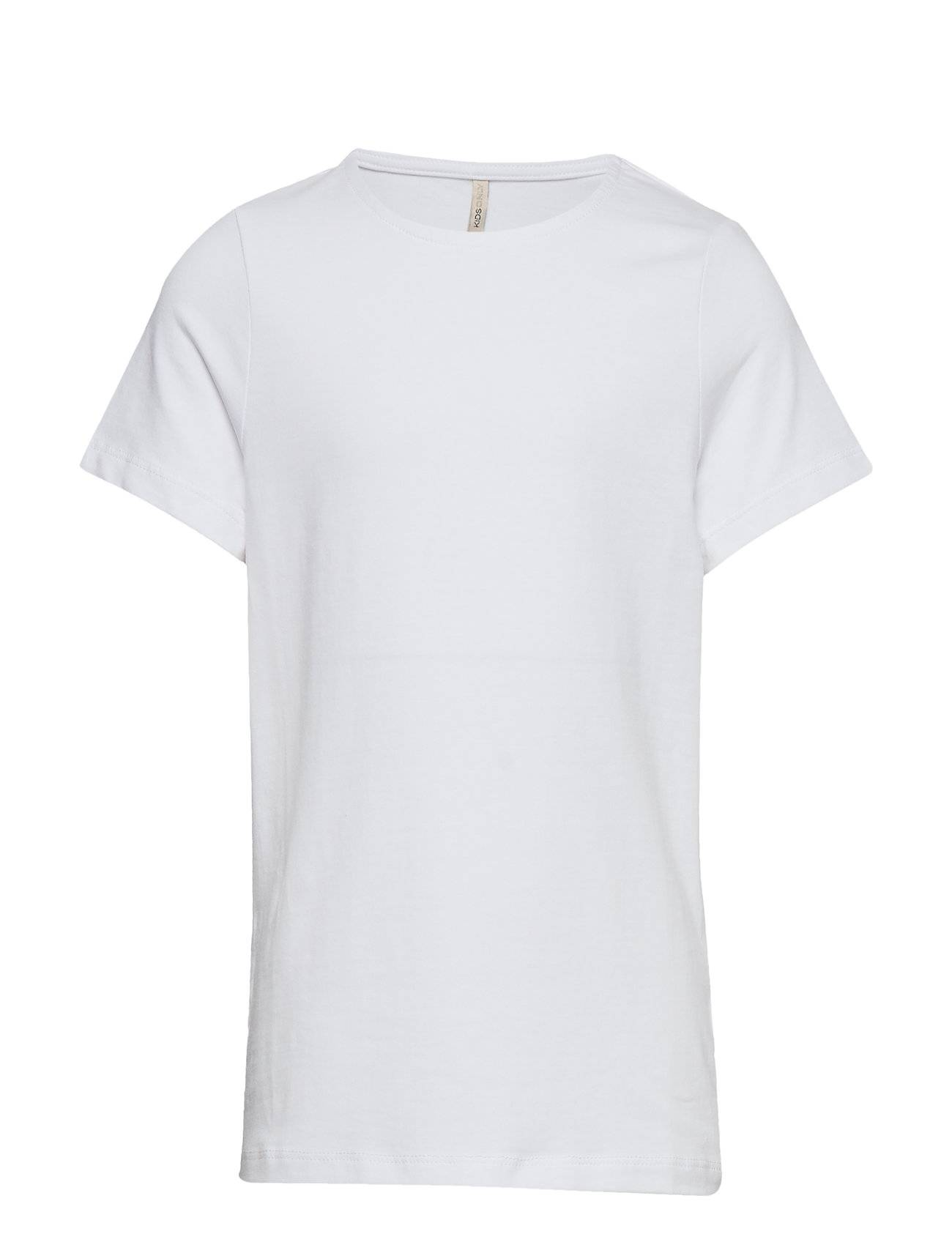 Kids Only Konlove Life S/S Top Noos T-shirts Short-sleeved Valkoinen Kids Only