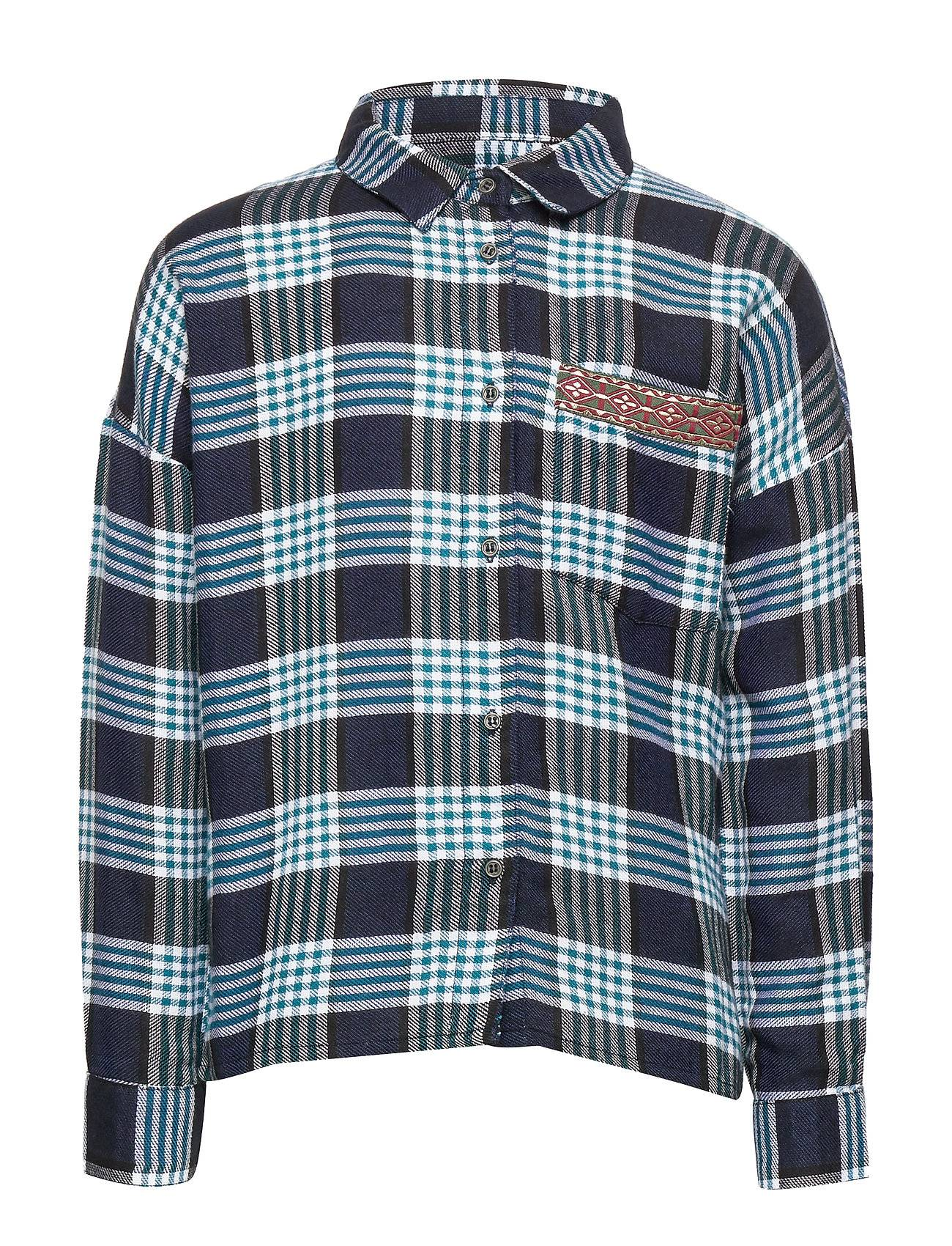 Kids Only Konkoda Blue Detail Check Shirt Pnt Paita Sininen Kids Only