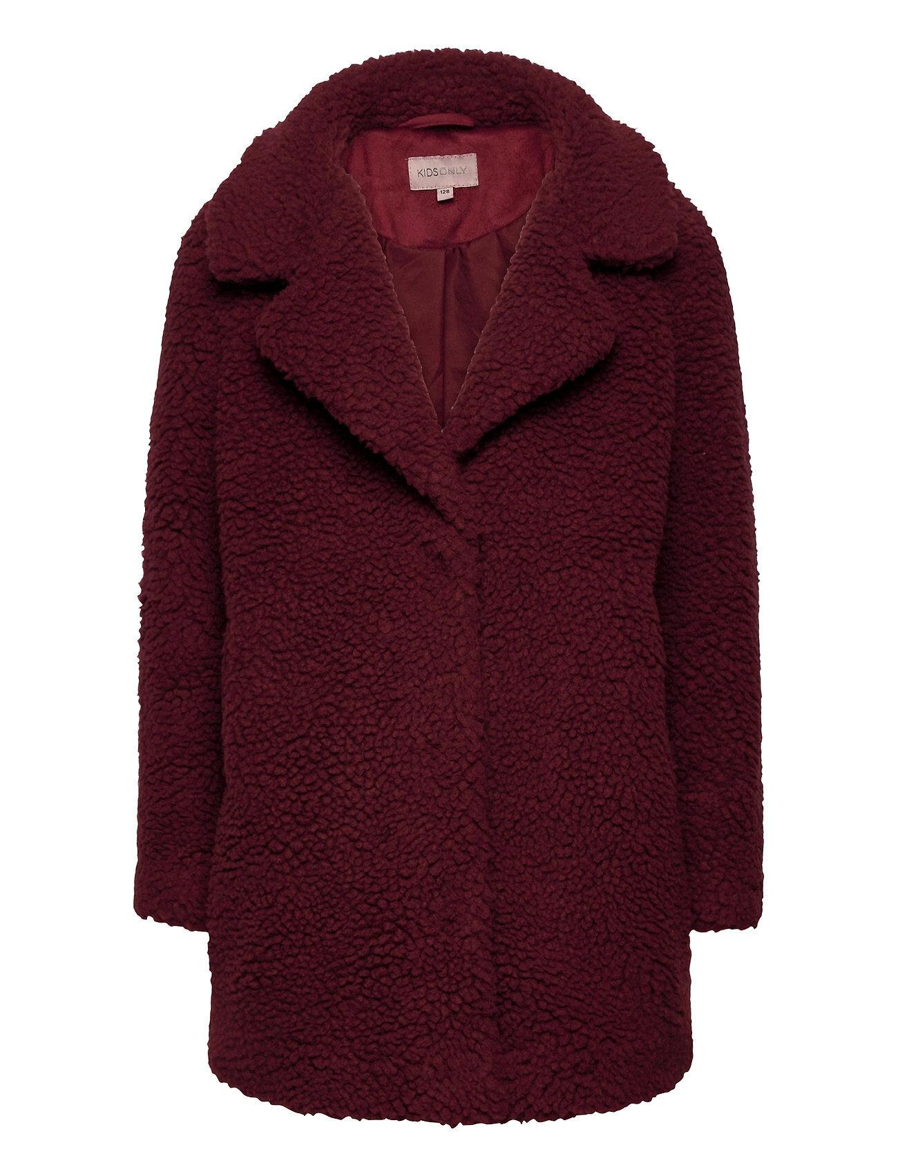 Kids Only Konnewaurelia Sherpaa Coat Cp Otw Outerwear Wool Outerwear Liila Kids Only
