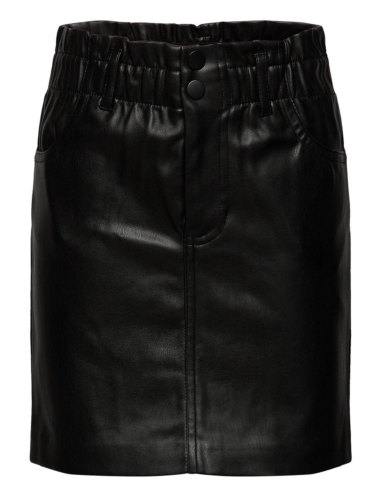 Kids Only Konmaiya-Miri Faux Leather Skirt Cp Hame Musta Kids Only