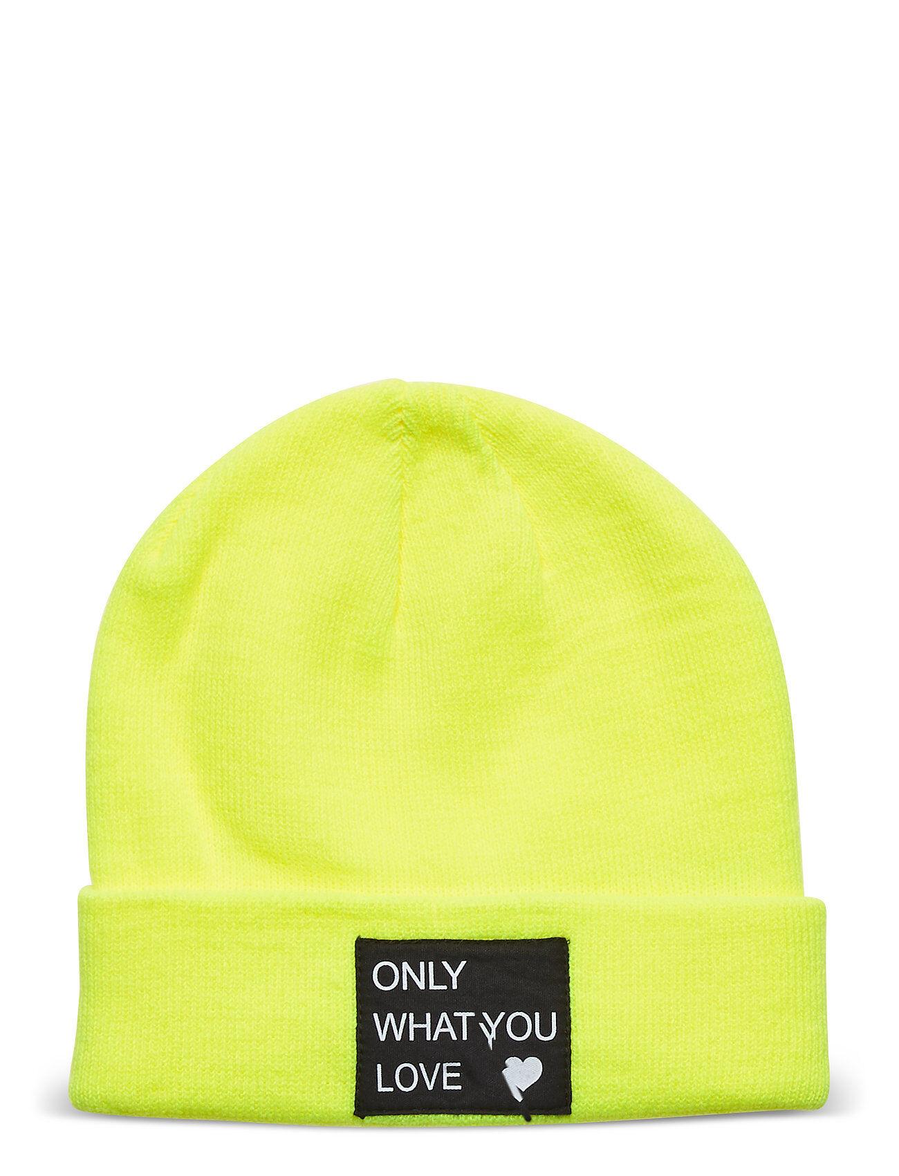 Kids Only Konmadison Logo Beanie Accessories Headwear Hats Keltainen Kids Only