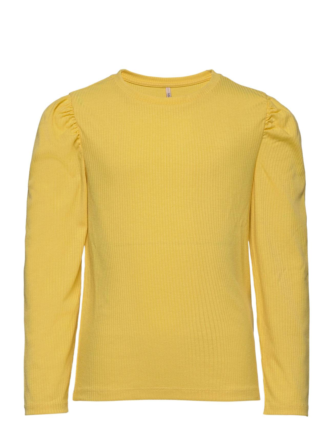 Kids Only Konribby L/S Puff Top Jrs T-shirts Long-sleeved T-shirts Keltainen Kids Only