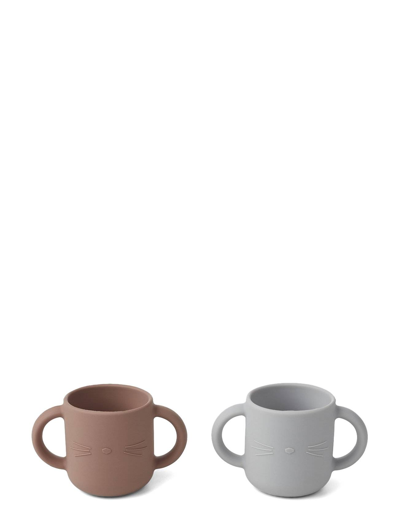 Liewood Gene Silic Cup - 2 Pack Home Meal Time Ruskea Liewood