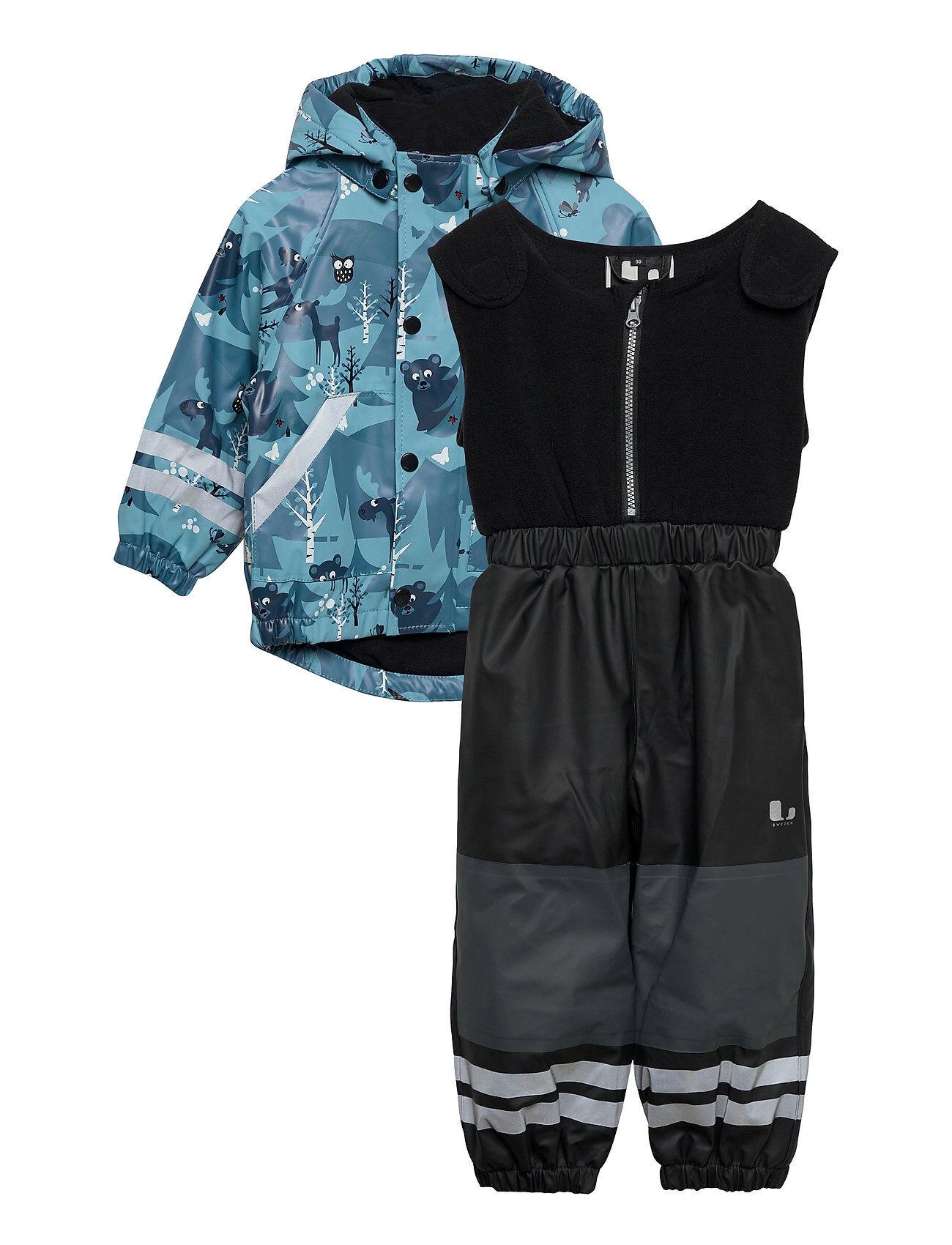 Lindberg Sweden Halmstad Rain Set Fleece Outerwear Fleece Outerwear Fleece Suits Sininen Lindberg Sweden