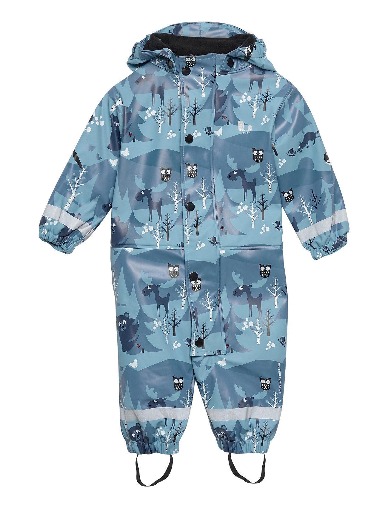Lindberg Sweden Halmstad Rain Baby Overall Fleece Outerwear Rainwear Sets & Coveralls Sininen Lindberg Sweden