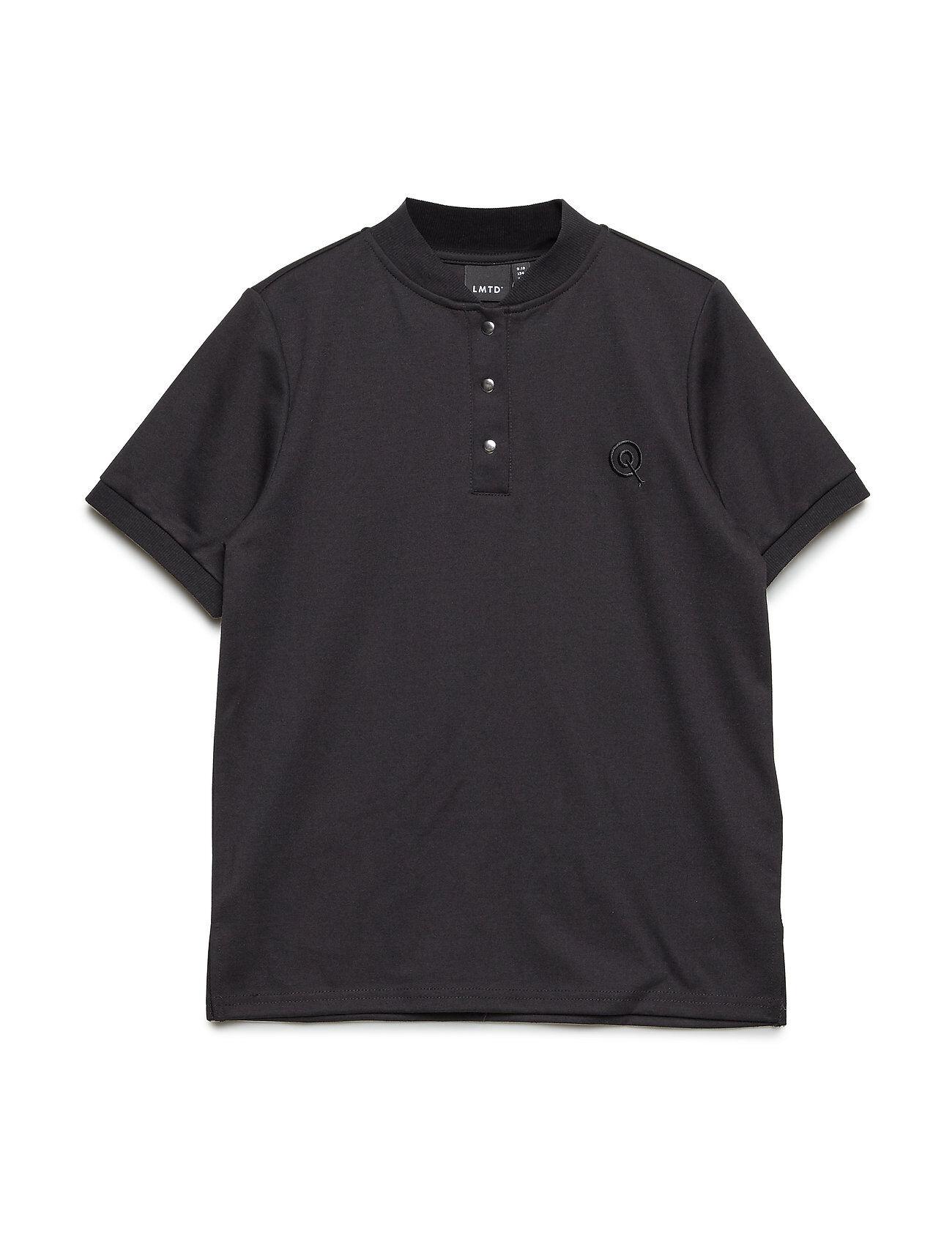 LMTD Nlmbolo Ss Reg Polo T-shirts Short-sleeved Musta LMTD