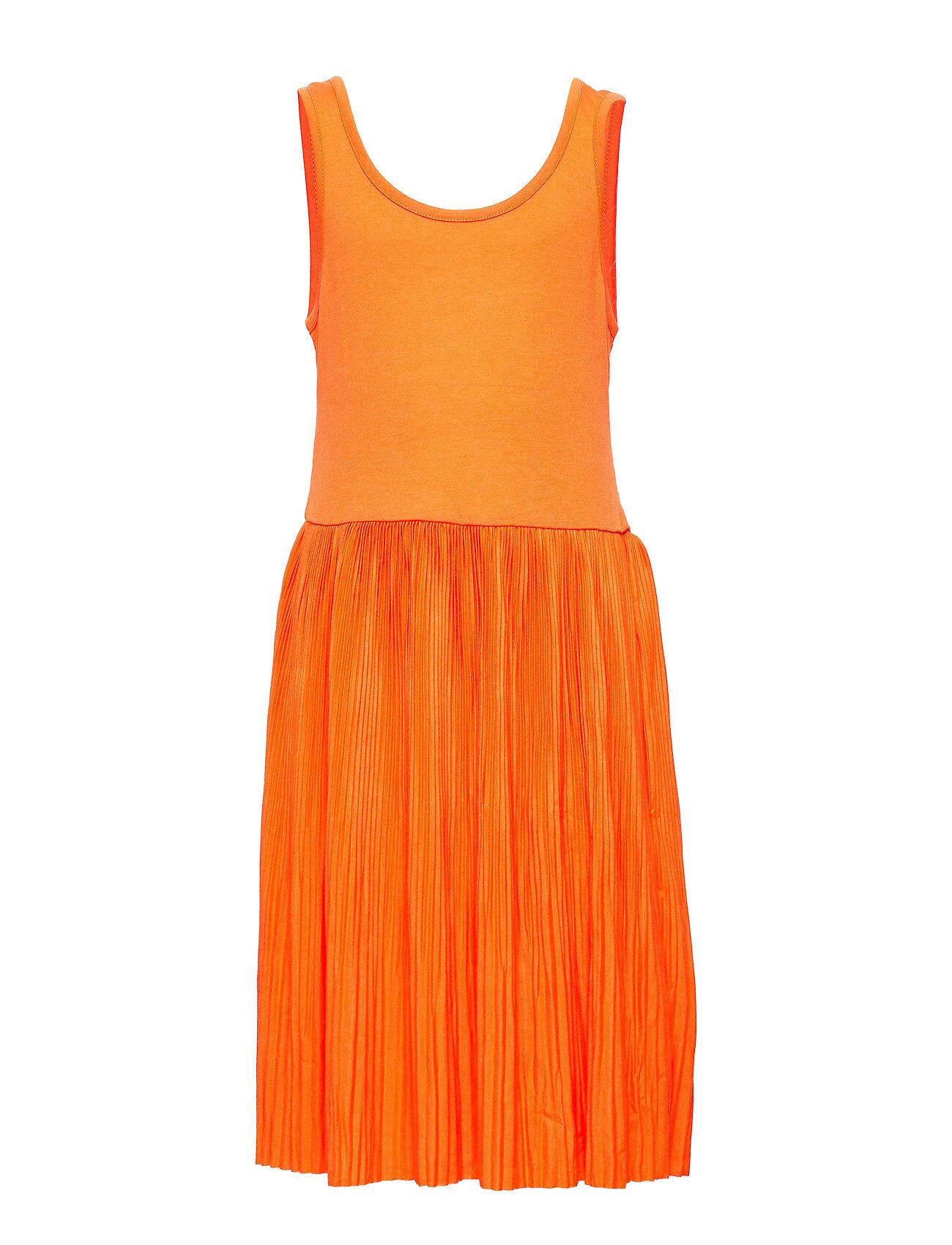 LMTD Nlffirenze Sl Pleated Dress Mekko Oranssi LMTD