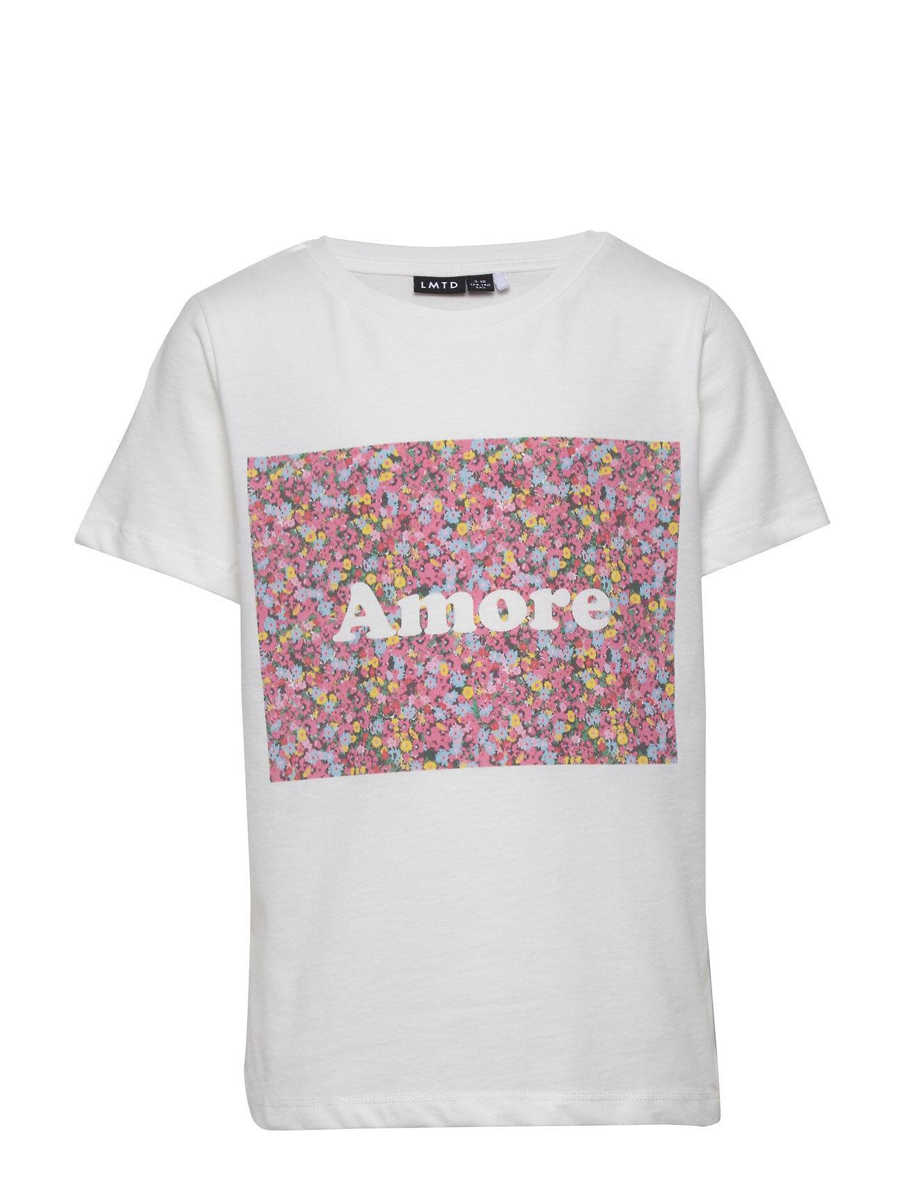 LMTD Nlfkety Ss R Top T-shirts Short-sleeved Valkoinen LMTD