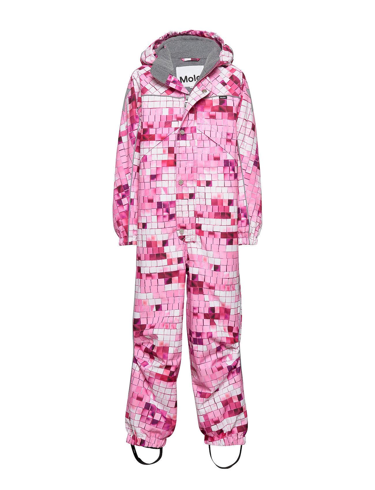 Molo Polaris Outerwear Snow/ski Clothing Snow/ski Suits & Sets Vaaleanpunainen Molo