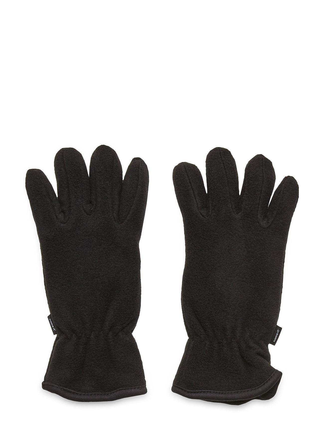 name it Nkmmar Fleece Gloves 3fo Hanskat Käsineet Musta Name It