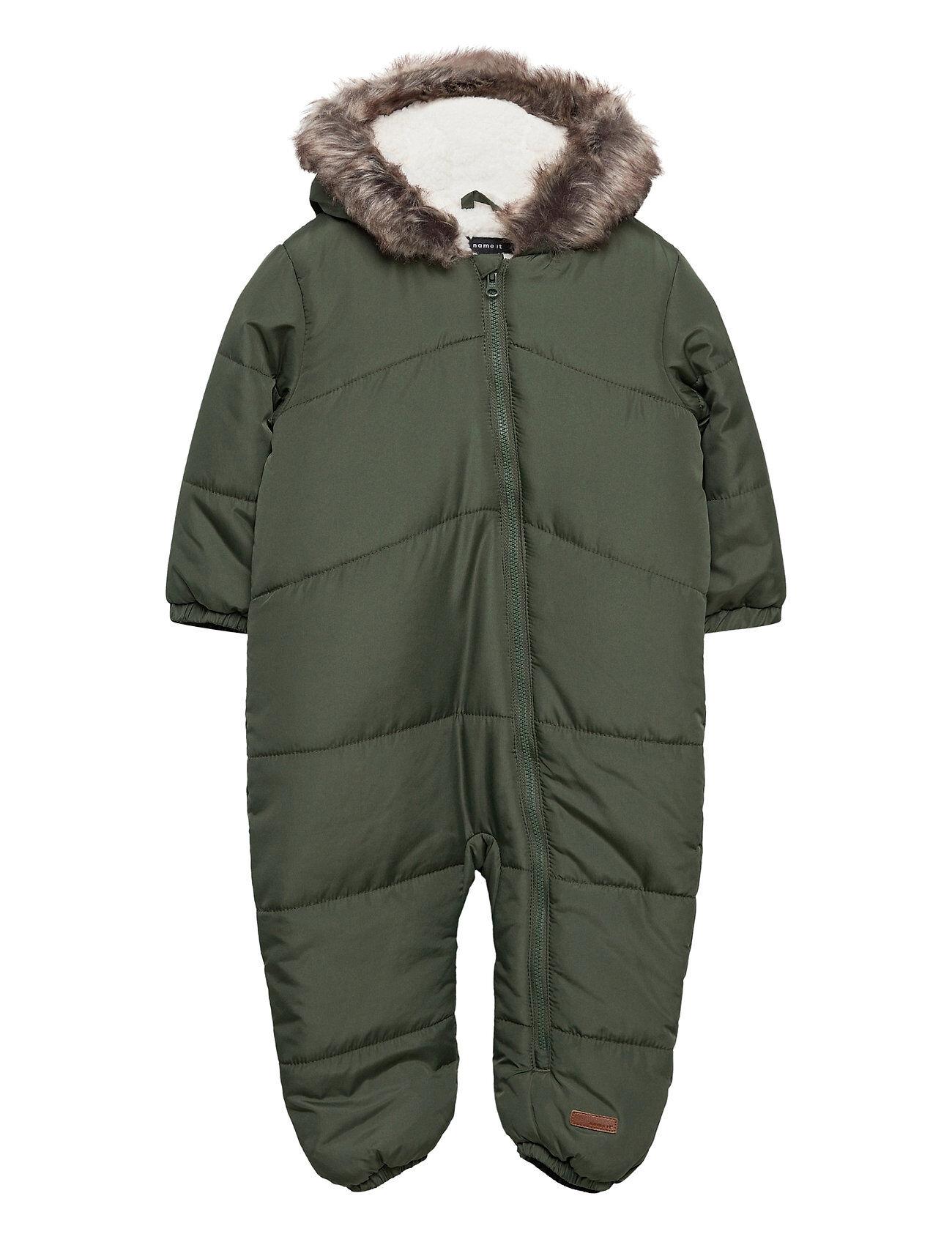 name it Nbmmagnus Suit Outerwear Snow/ski Clothing Snow/ski Suits & Sets Vihreä Name It