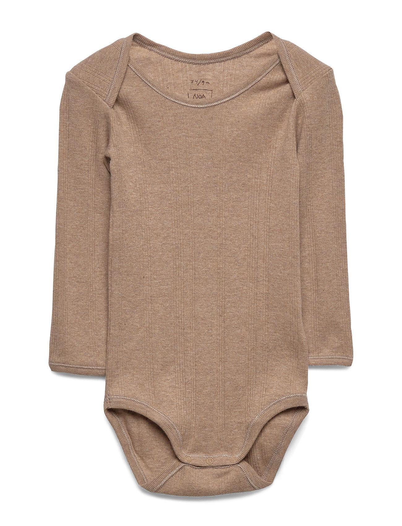Noa Noa Miniature Baby Body Bodies Long-sleeved Ruskea Noa Noa Miniature