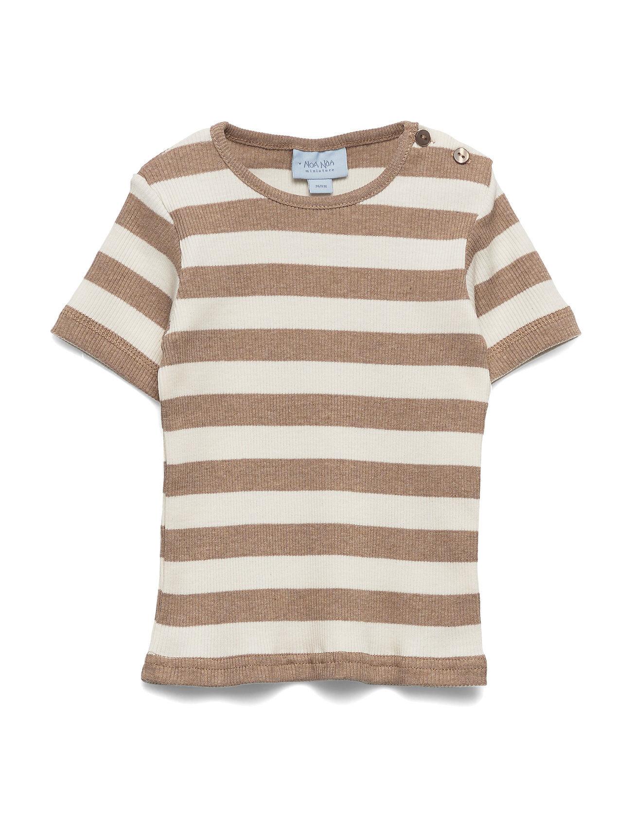 Noa Noa Miniature T-Shirt T-shirts Short-sleeved Ruskea Noa Noa Miniature