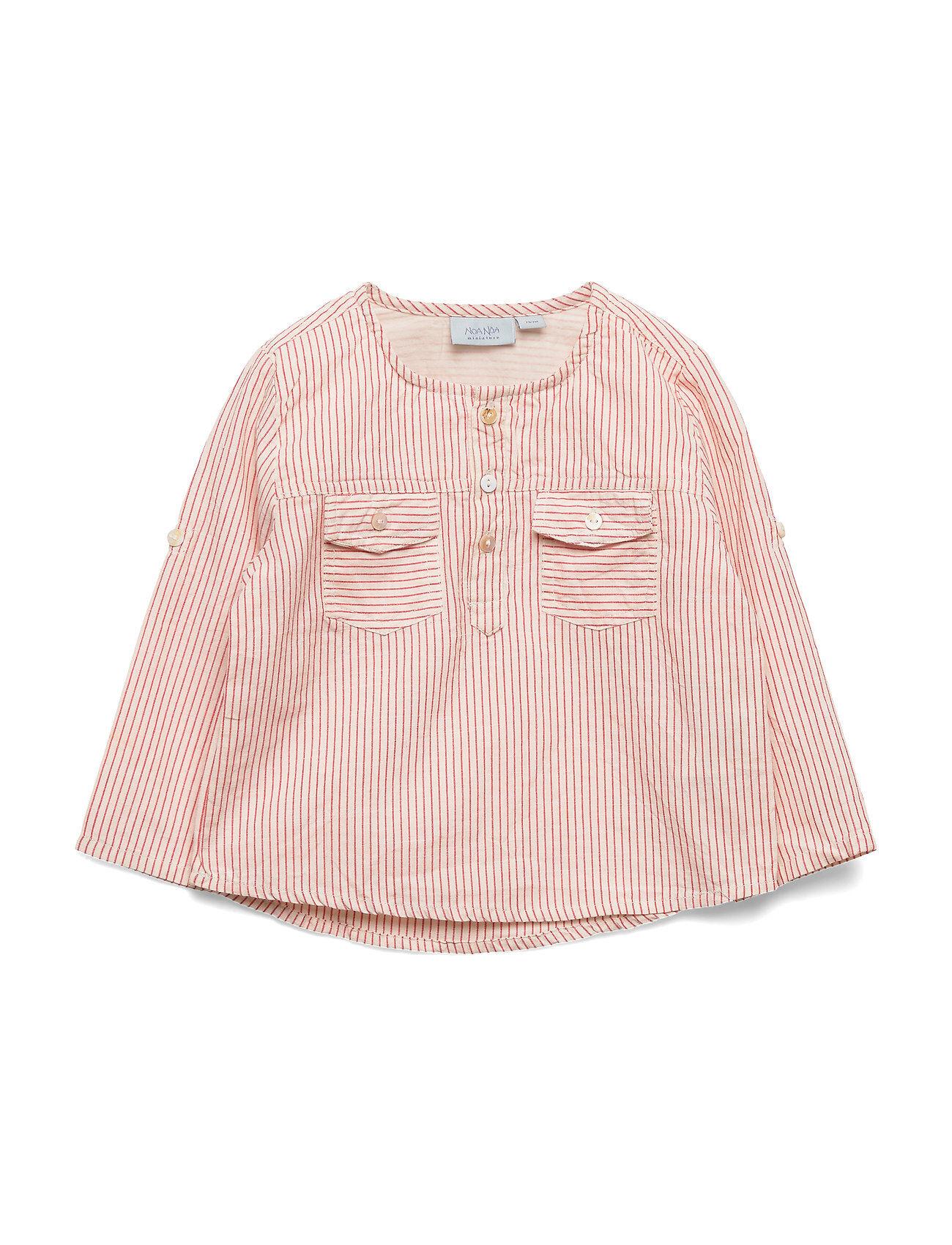 Noa Noa Miniature Shirt T-shirts Long-sleeved T-shirts Vaaleanpunainen Noa Noa Miniature