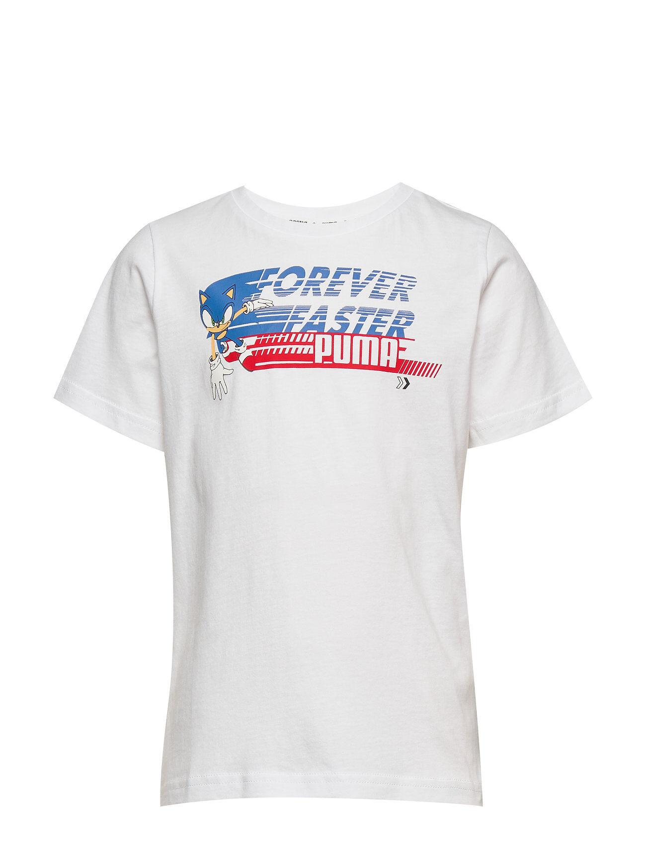 Puma X Sega Tee T-shirts Short-sleeved Valkoinen PUMA