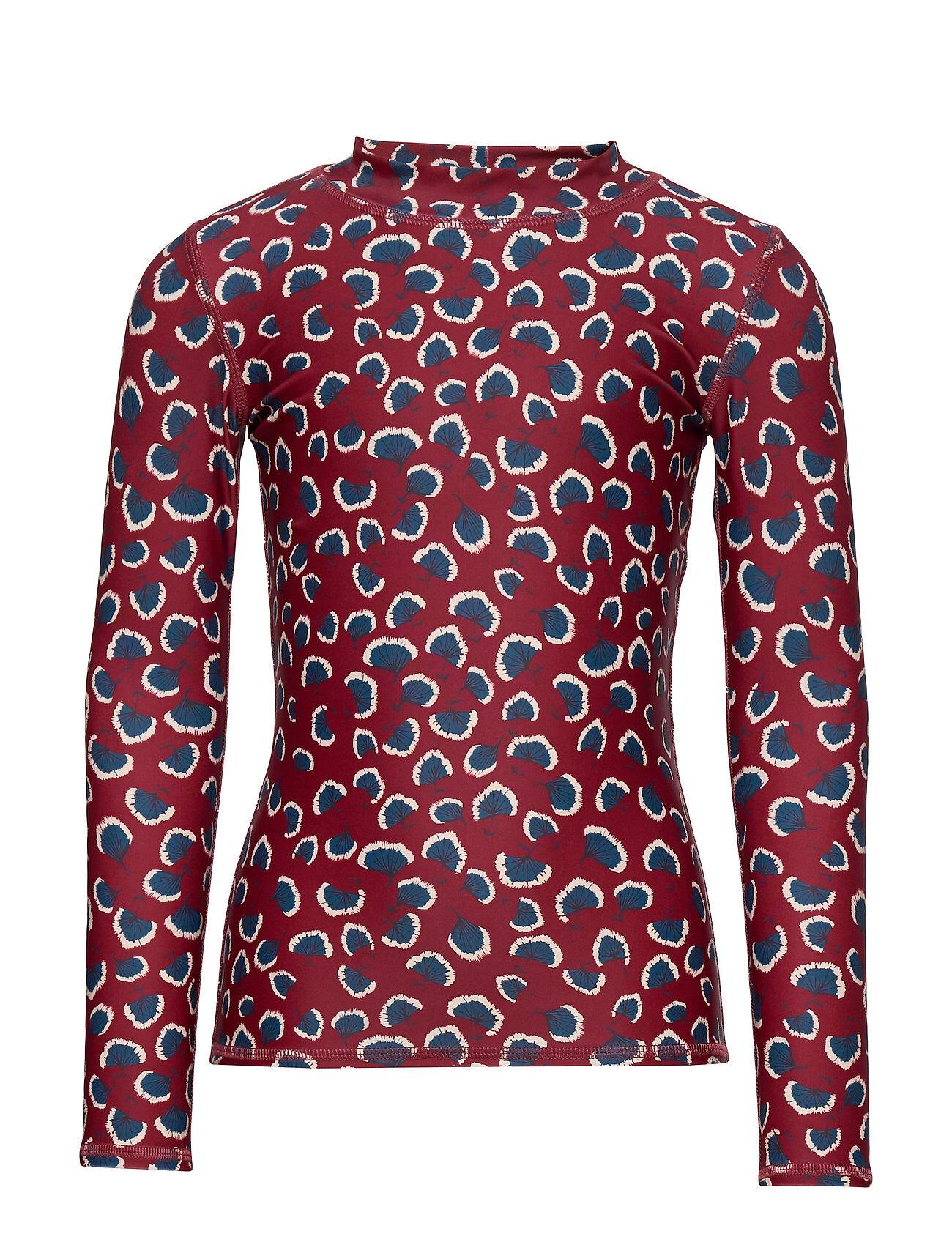 Image of Soft Gallery Astin Sun Shirt Swimwear UV Clothing UV Tops Punainen Soft Gallery