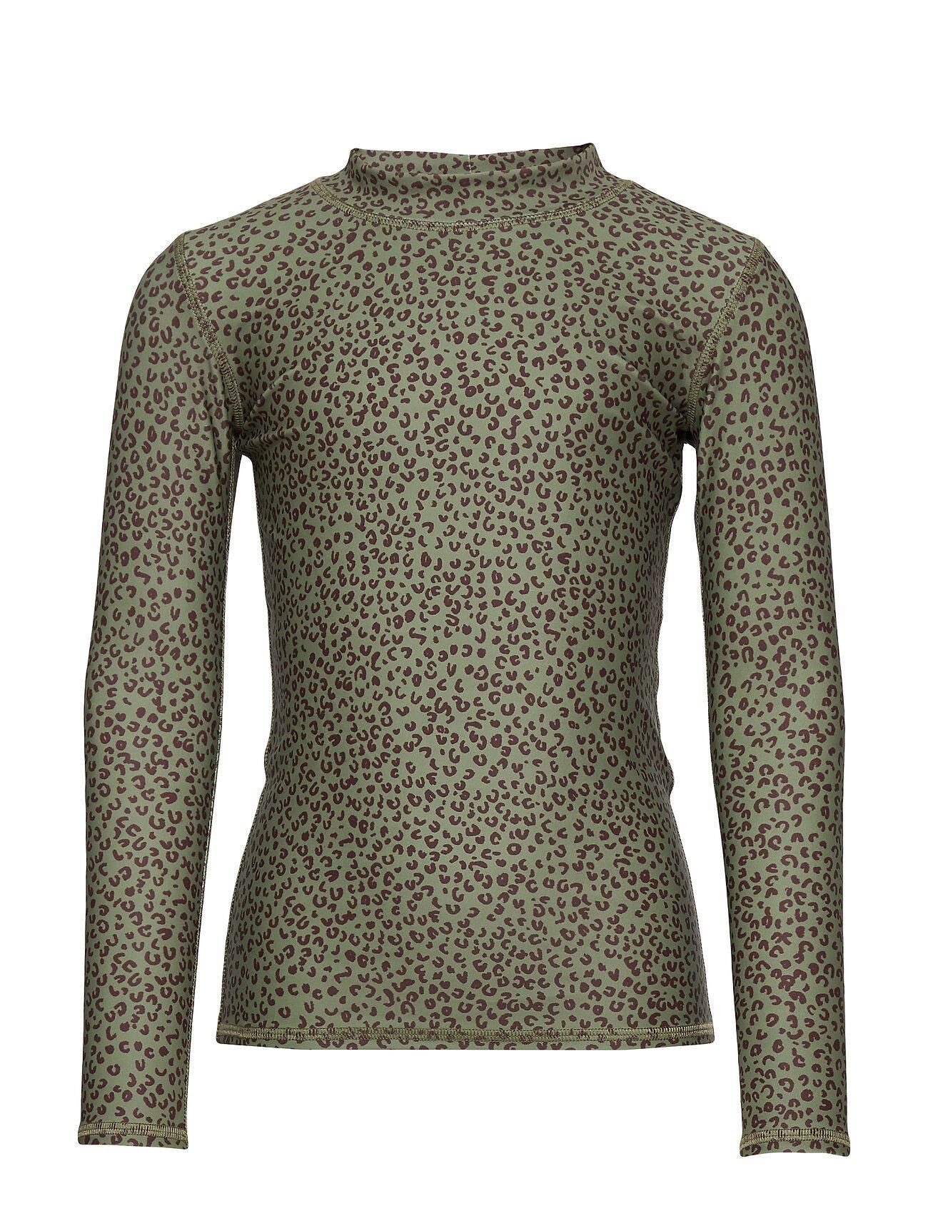 Image of Soft Gallery Astin Sun Shirt Swimwear UV Clothing UV Tops Vihreä Soft Gallery