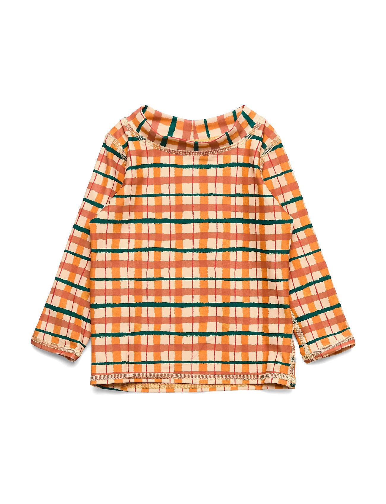 Image of Soft Gallery Baby Astin Sun Shirt Swimwear UV Clothing UV Tops Oranssi Soft Gallery