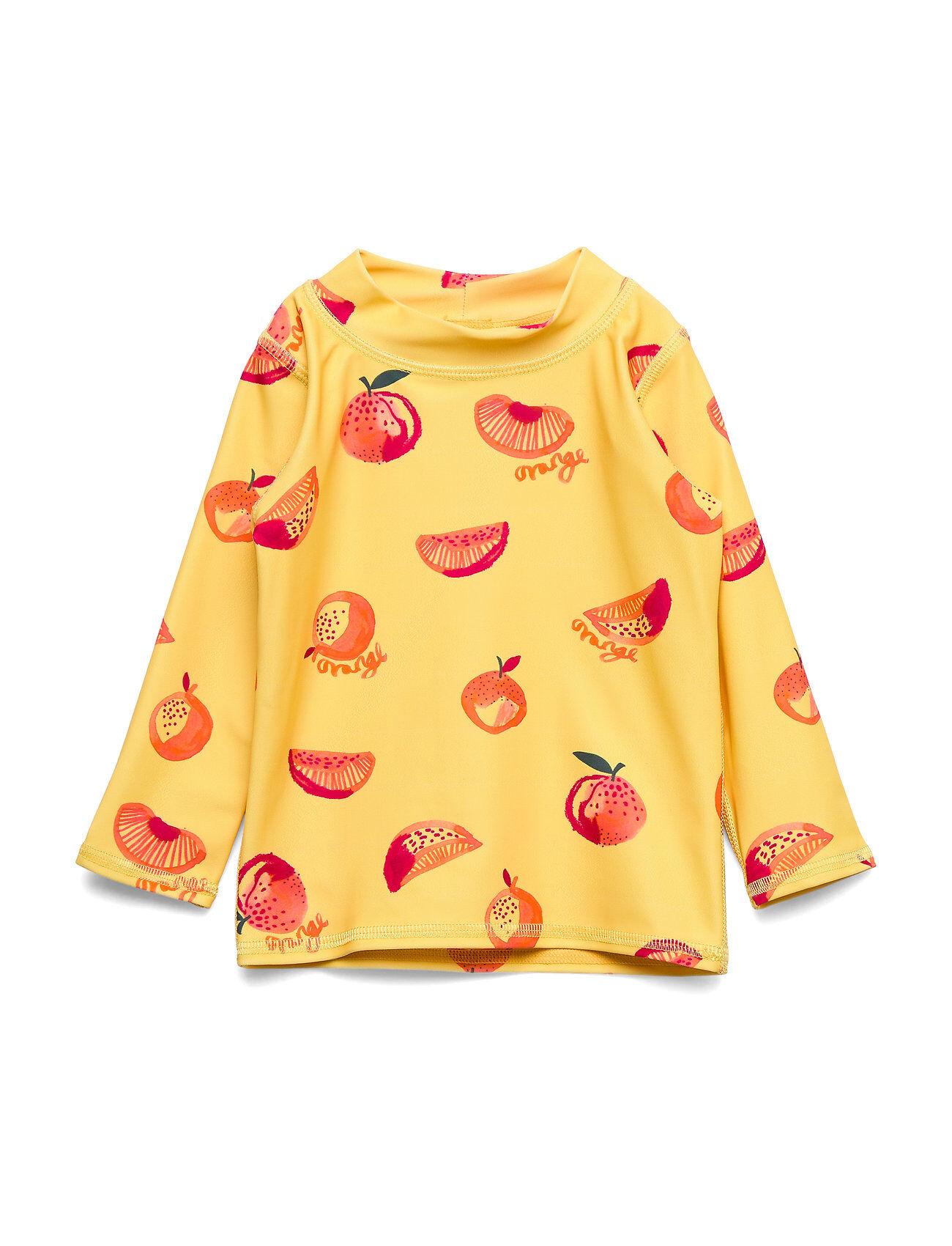 Image of Soft Gallery Baby Astin Sun Shirt Swimwear UV Clothing UV Tops Keltainen Soft Gallery