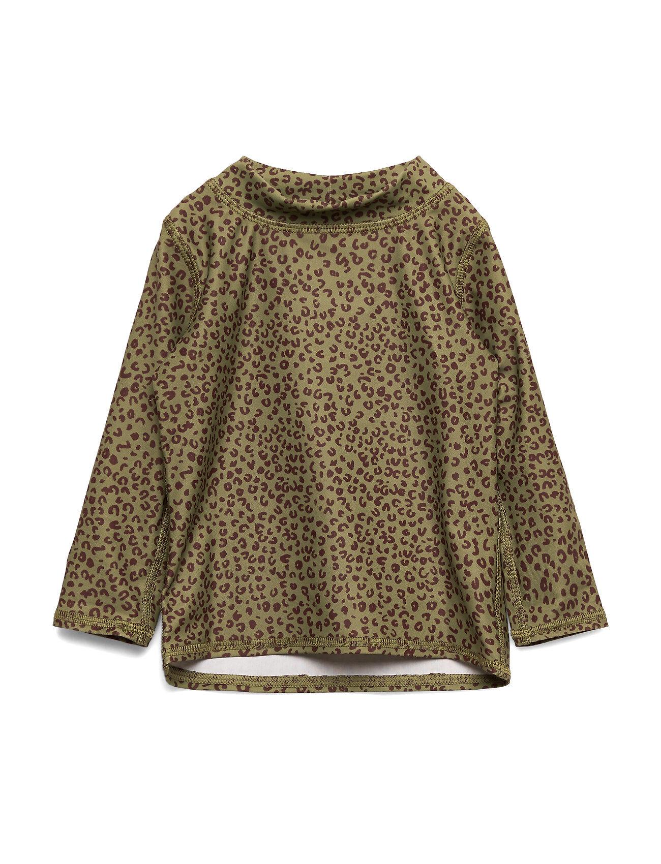 Image of Soft Gallery Baby Astin Sun Shirt Swimwear UV Clothing UV Tops Vihreä Soft Gallery