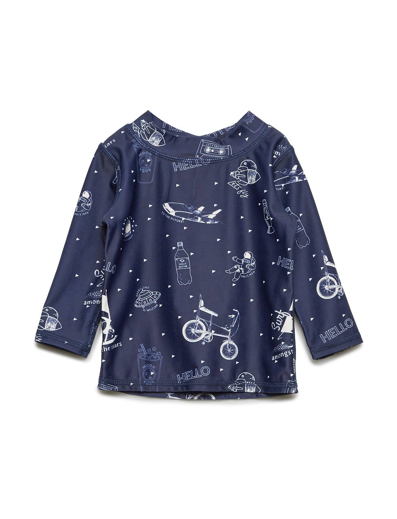 Image of Soft Gallery Baby Astin Sun Shirt Swimwear UV Clothing UV Tops Sininen Soft Gallery