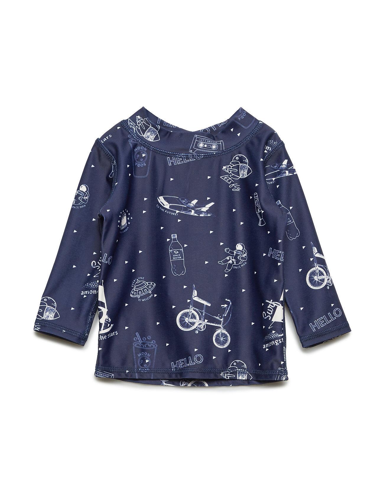 Image of Soft Gallery Baby Astin Sun Shirt Swimwear UV Clothing UV Tops Sininen Soft Gallery