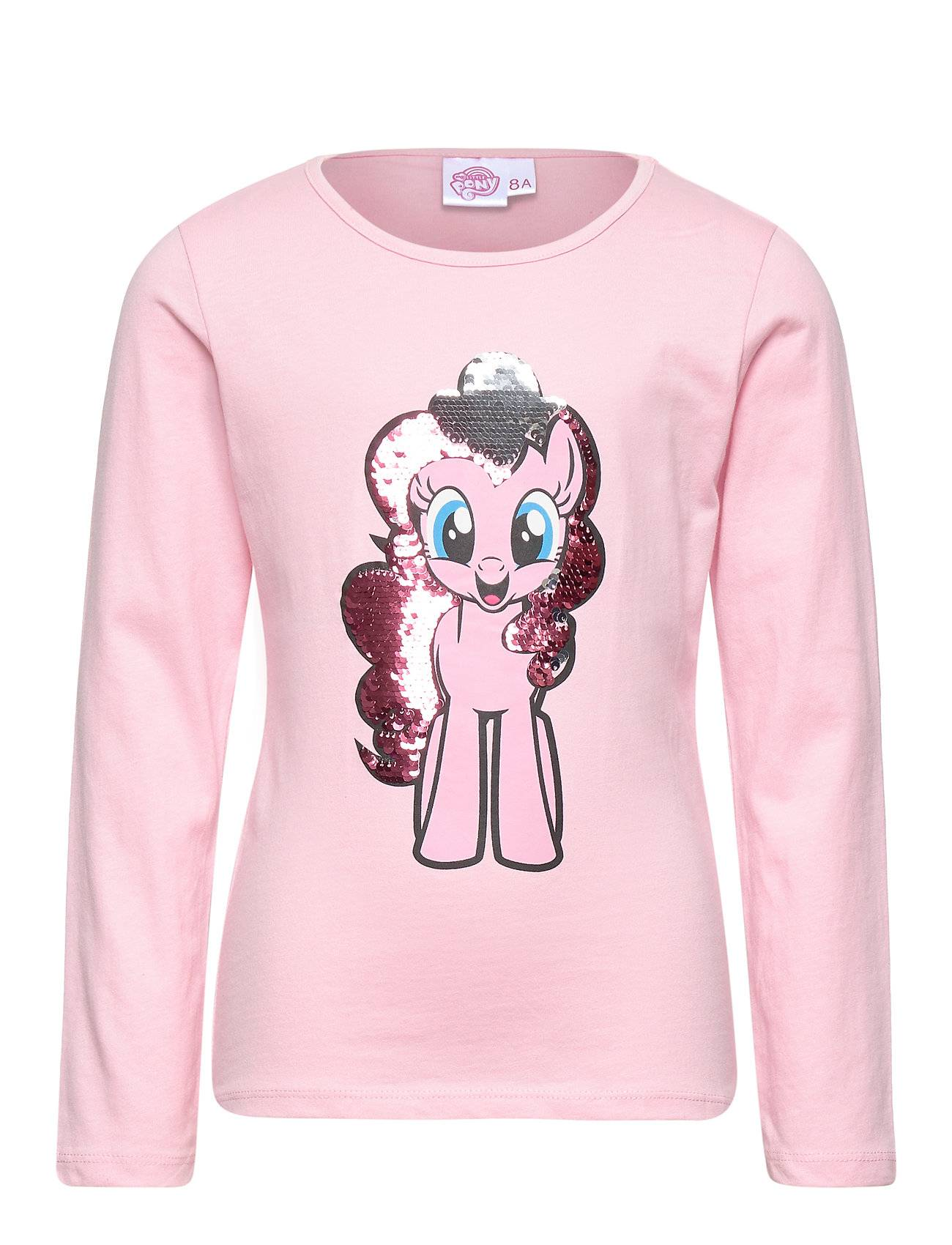 My Little Pony Ts Ml Sequins T-shirts Long-sleeved T-shirts Vaaleanpunainen My Little Pony