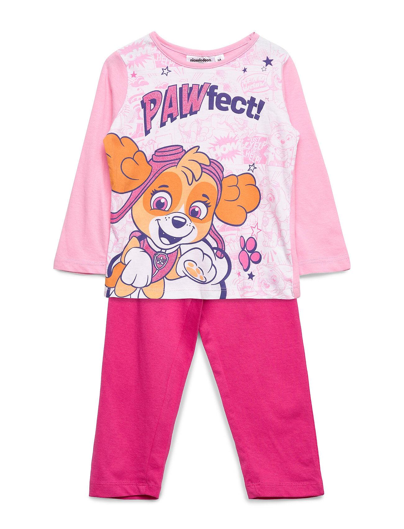 Paw Patrol Pyjalong Pyjamasetti Pyjama Vaaleanpunainen Paw Patrol