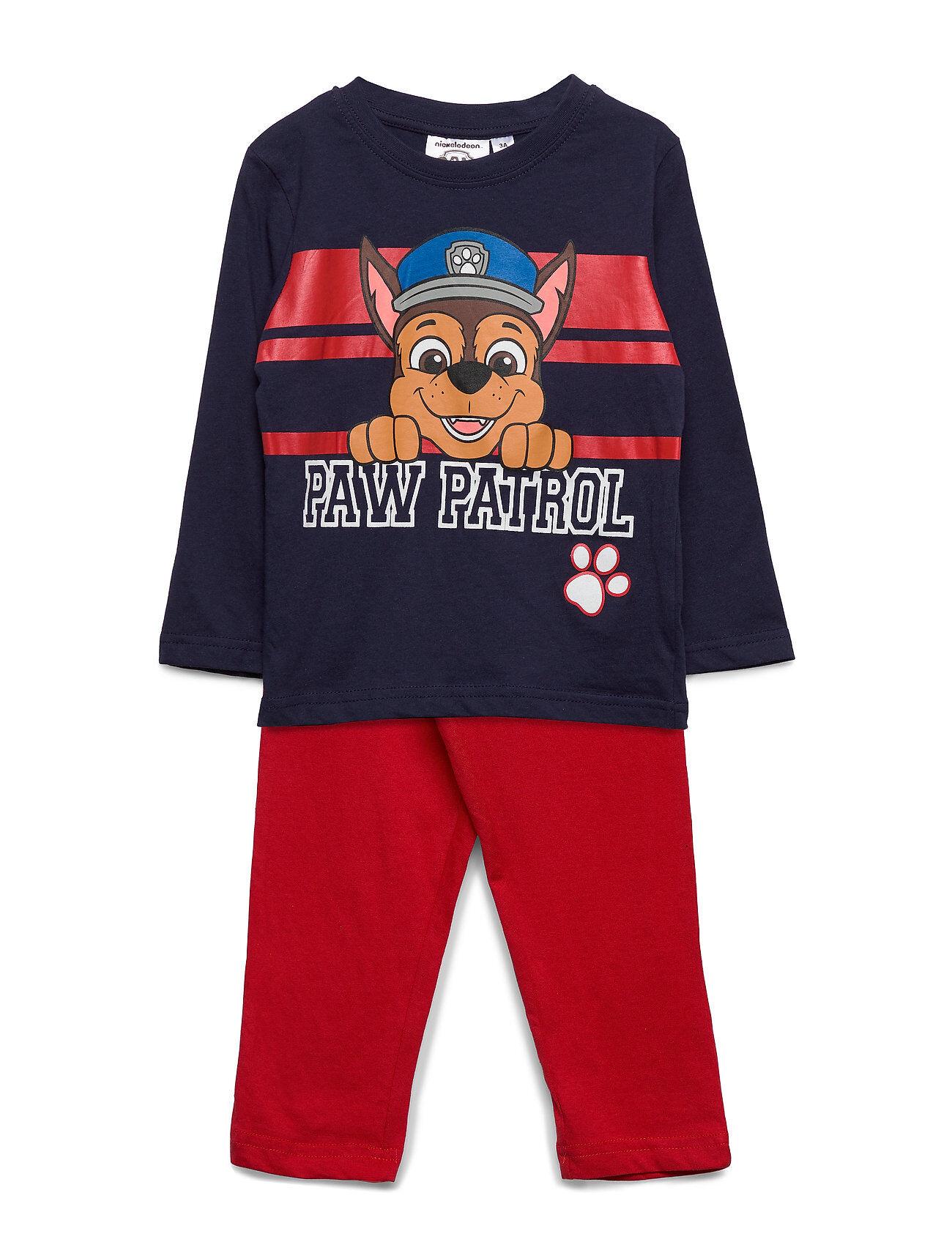 Paw Patrol Pyjalong Pyjamasetti Pyjama Sininen Paw Patrol