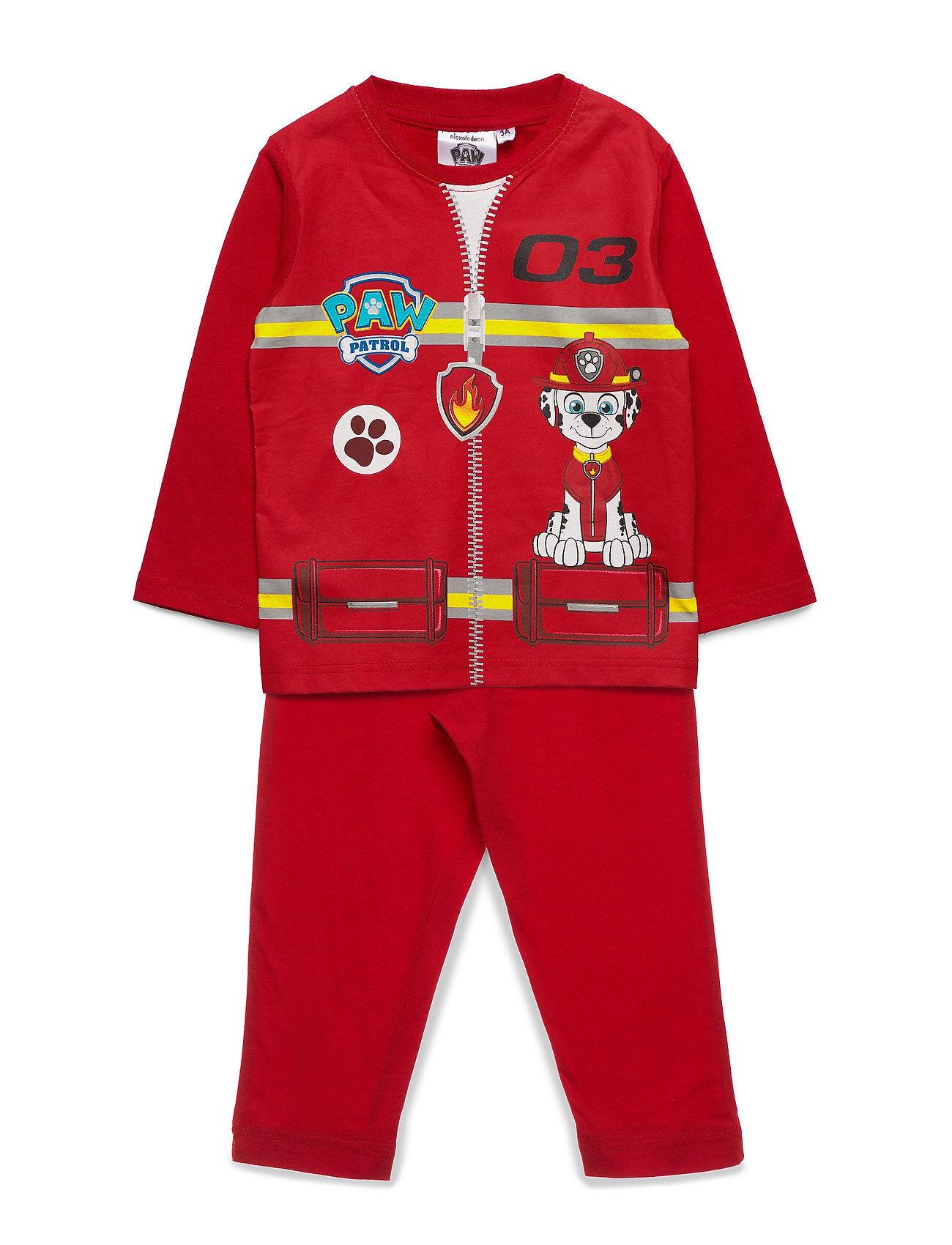 Paw Patrol Pyjama&Masque Pyjamasetti Pyjama Punainen Paw Patrol