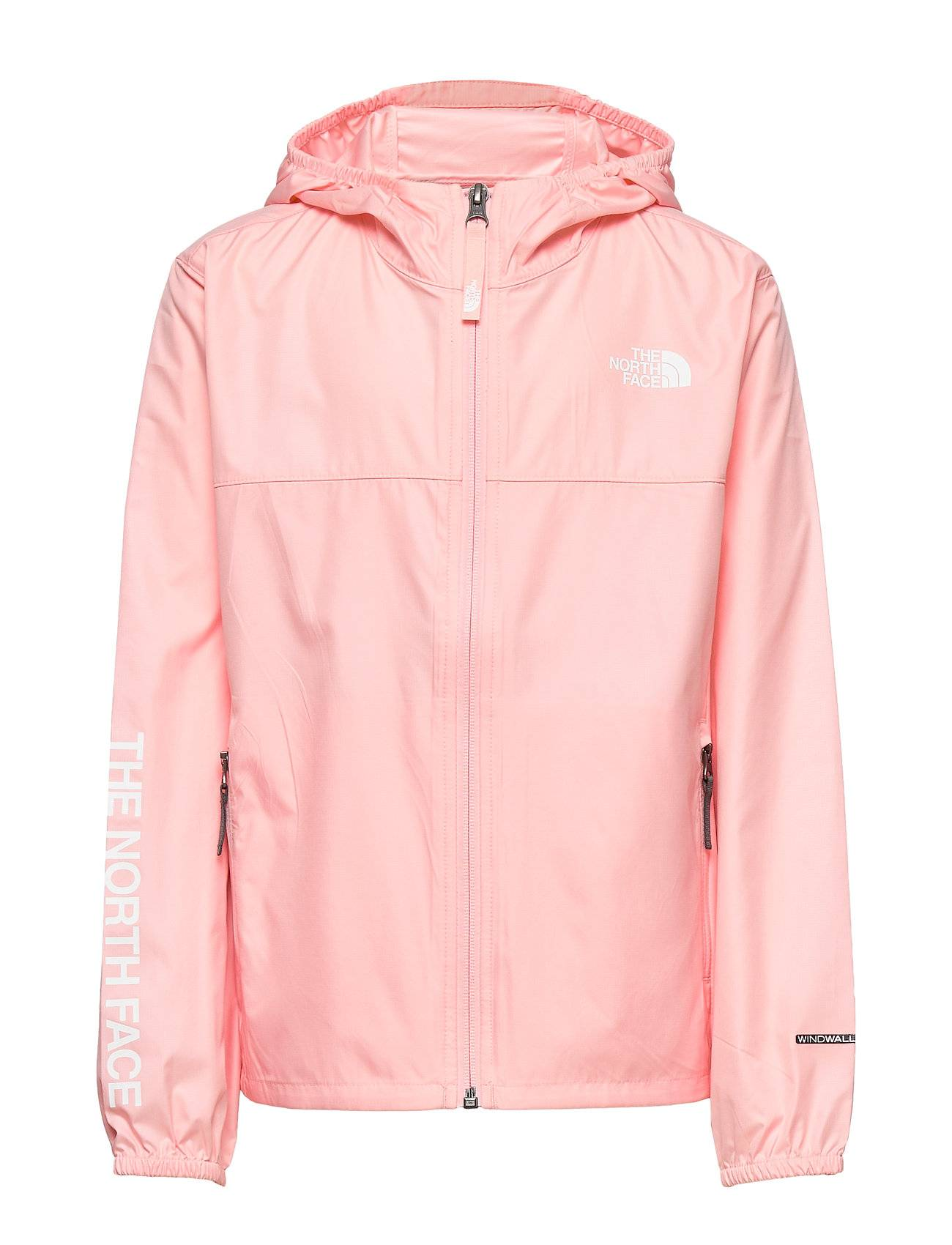 The North Face Y Reactor Wind Jkt Outerwear Jackets & Coats Windbreaker Vaaleanpunainen The North Face