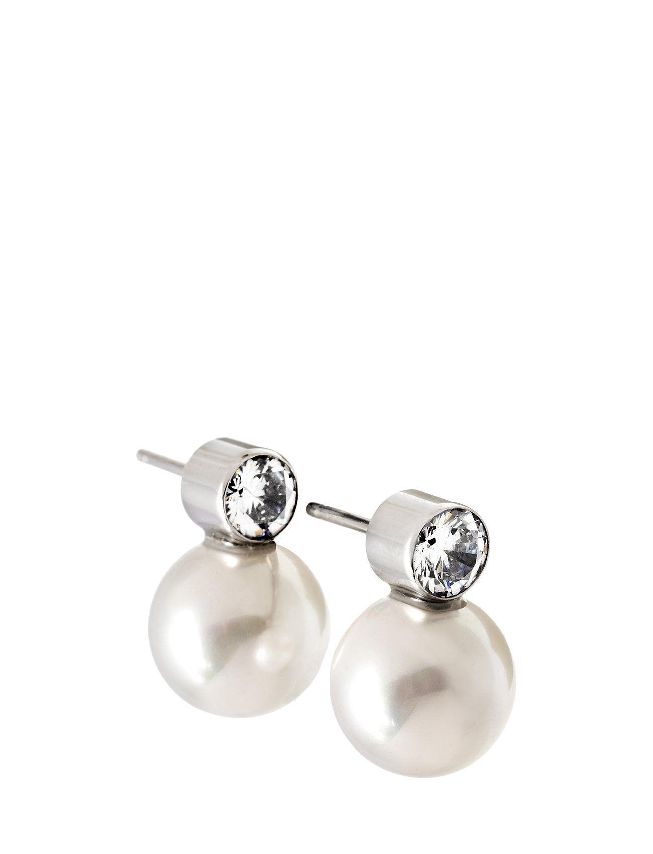 Edblad Luna Studs Large Steel Accessories Jewellery Earrings Studs Hopea Edblad