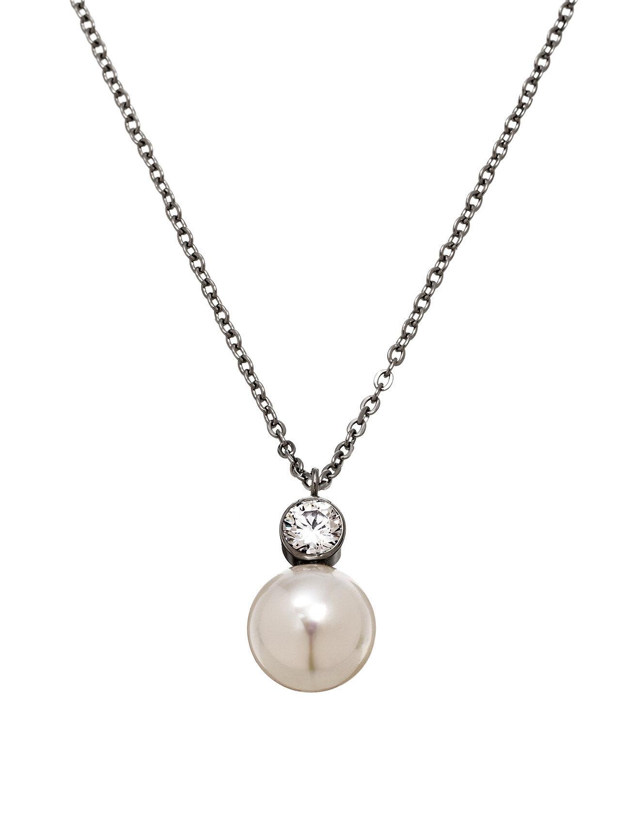 Edblad Luna Necklace Steel Accessories Jewellery Necklaces Dainty Necklaces Hopea Edblad