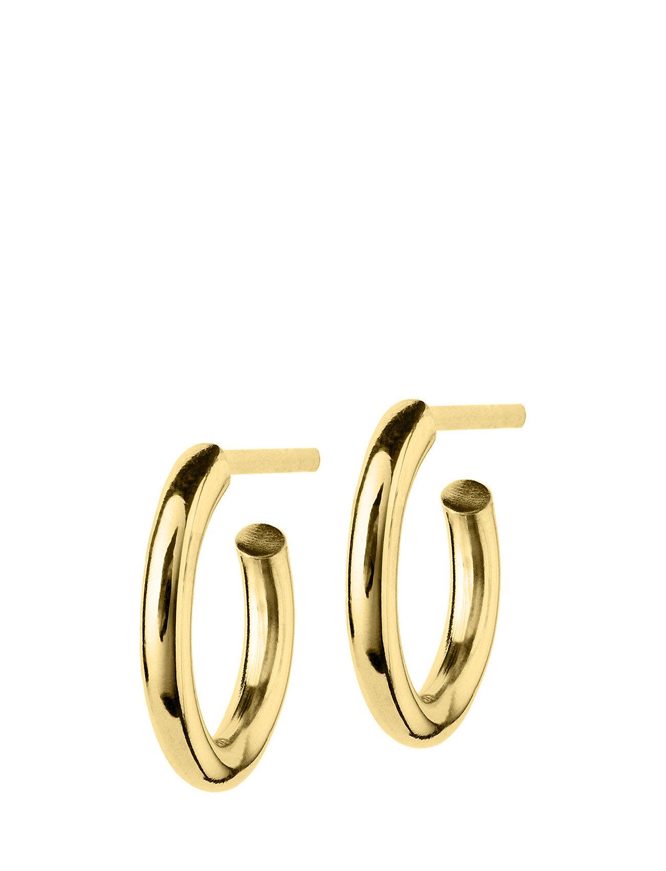 Edblad Hoops Earrings Gold Small Accessories Jewellery Earrings Studs Kulta Edblad