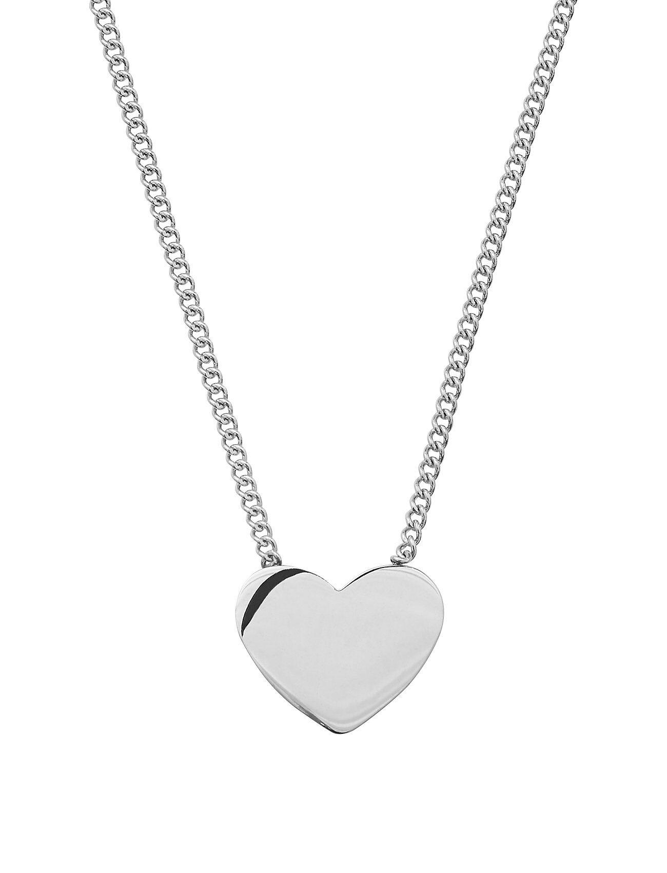 Edblad Pure Heart Necklace Steel Accessories Jewellery Necklaces Dainty Necklaces Hopea Edblad
