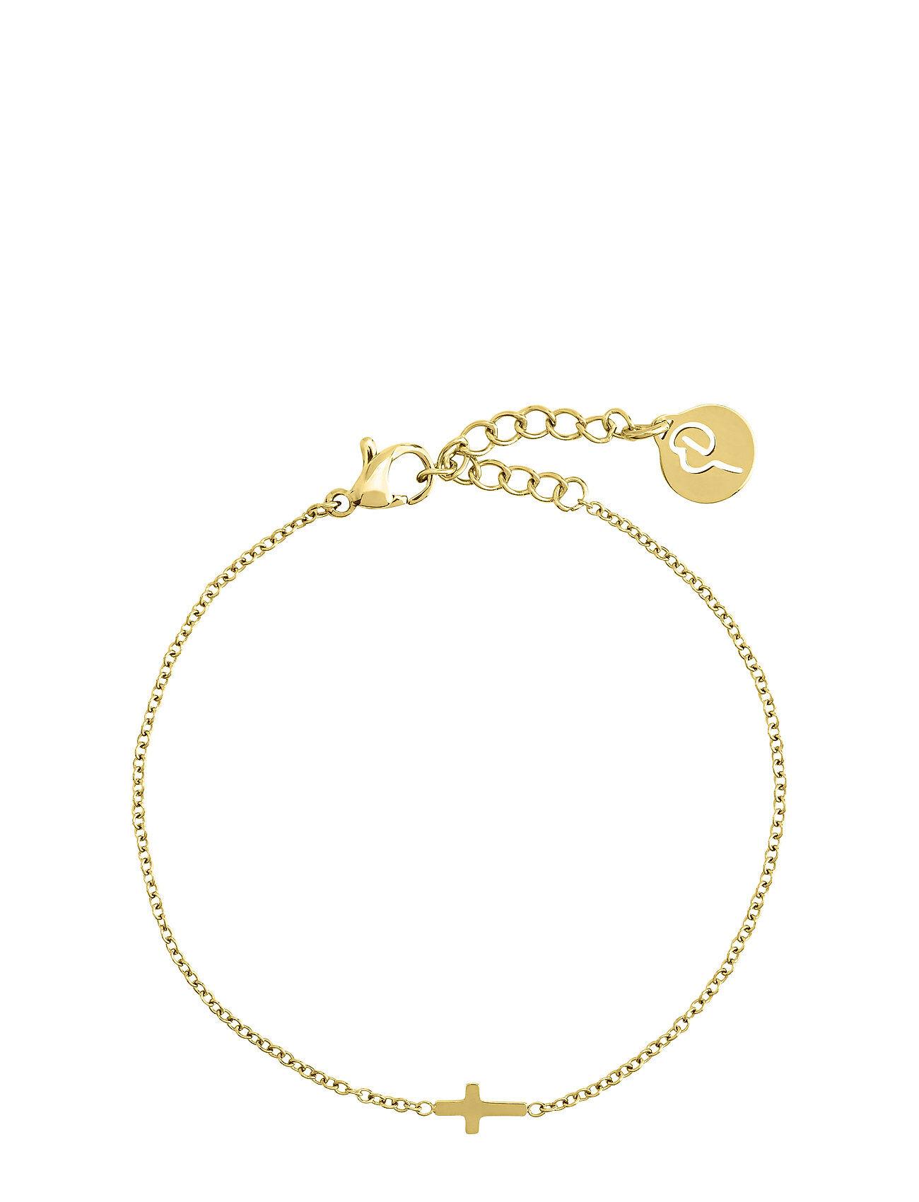 Edblad Cross Bracelet Gold Accessories Jewellery Bracelets Chain Bracelets Kulta Edblad