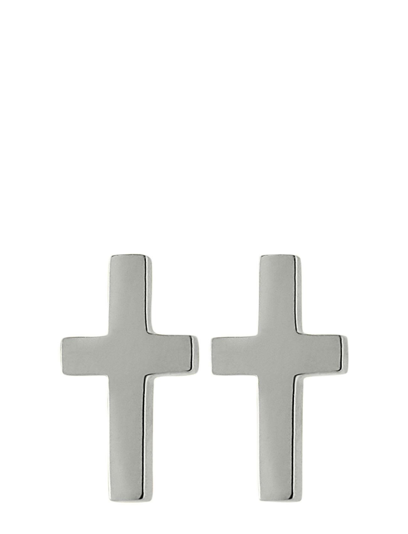 Edblad Cross Studs Steel Accessories Jewellery Earrings Studs Hopea Edblad