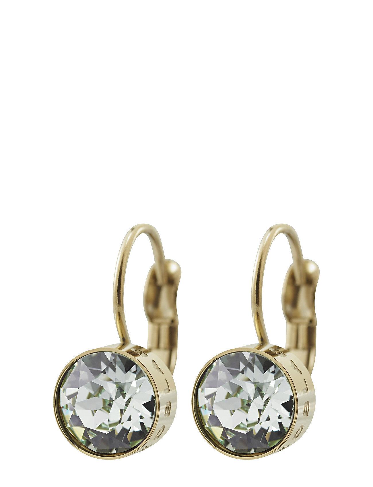 Edblad Diana Earrings Pool Blue Crystal Gold Accessories Jewellery Earrings Hoops Kulta Edblad