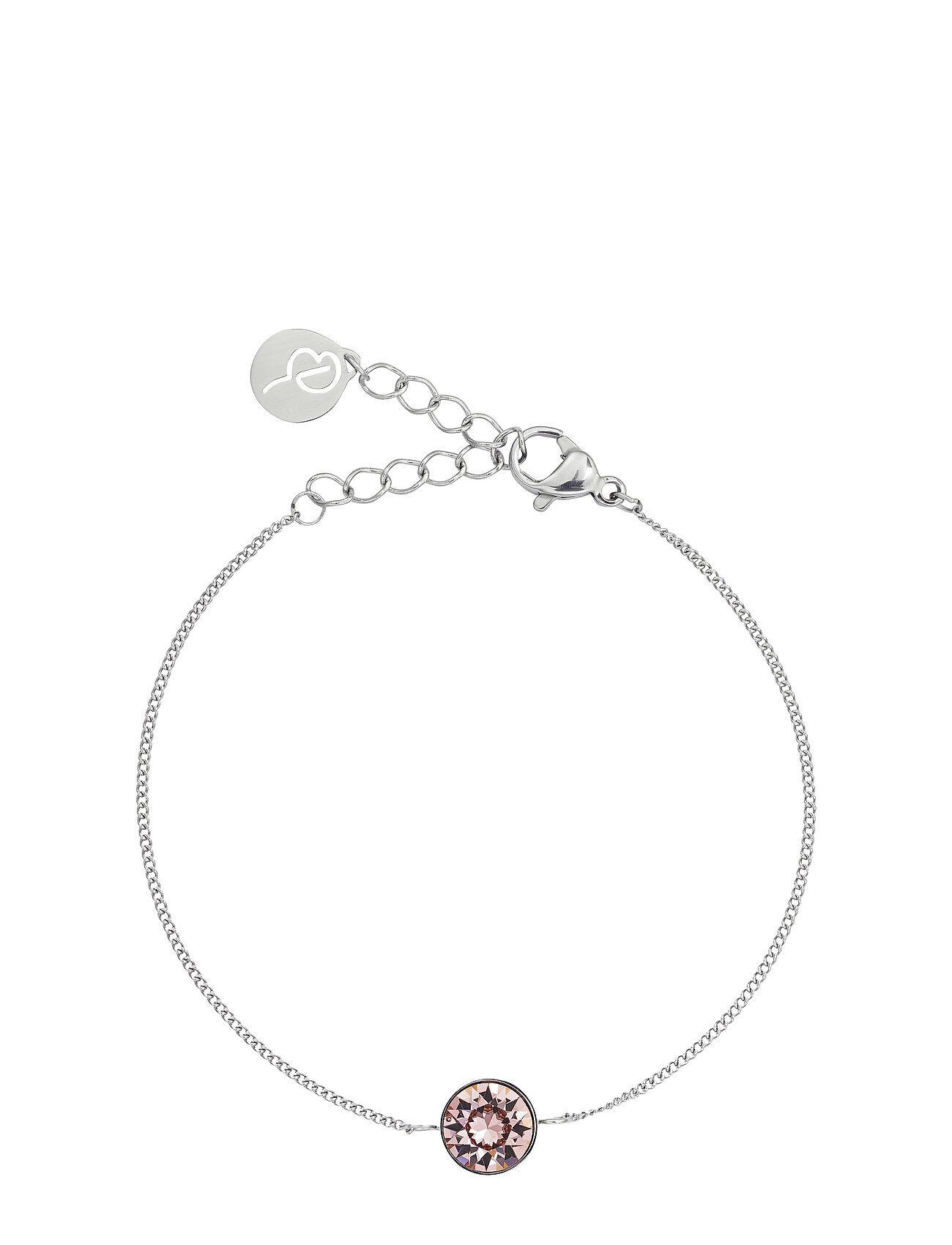 Edblad Diana Bracelet Bubble Gum Crystal Steel Accessories Jewellery Bracelets Chain Bracelets Hopea Edblad