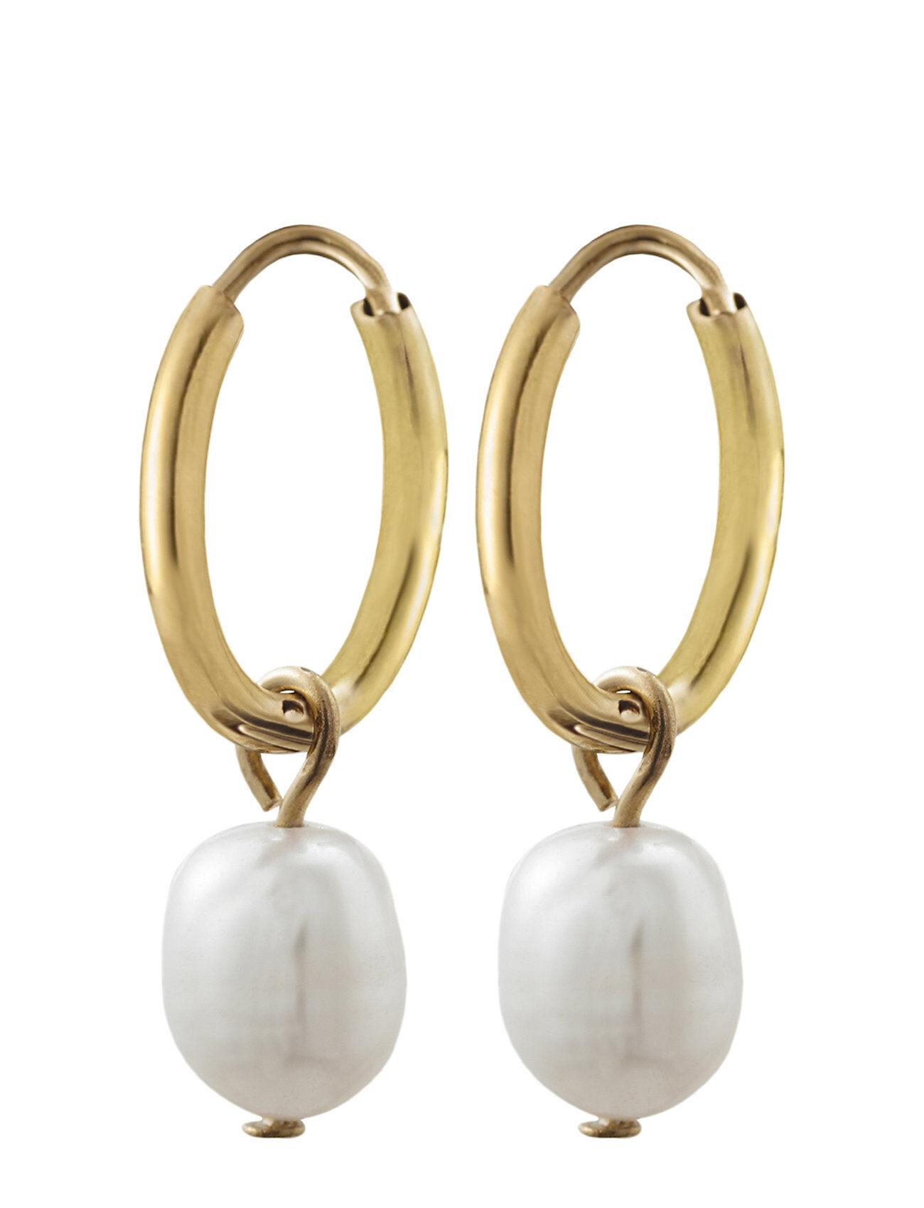 Edblad Perla Earrings Creole Gold Accessories Jewellery Earrings Hoops Kulta Edblad