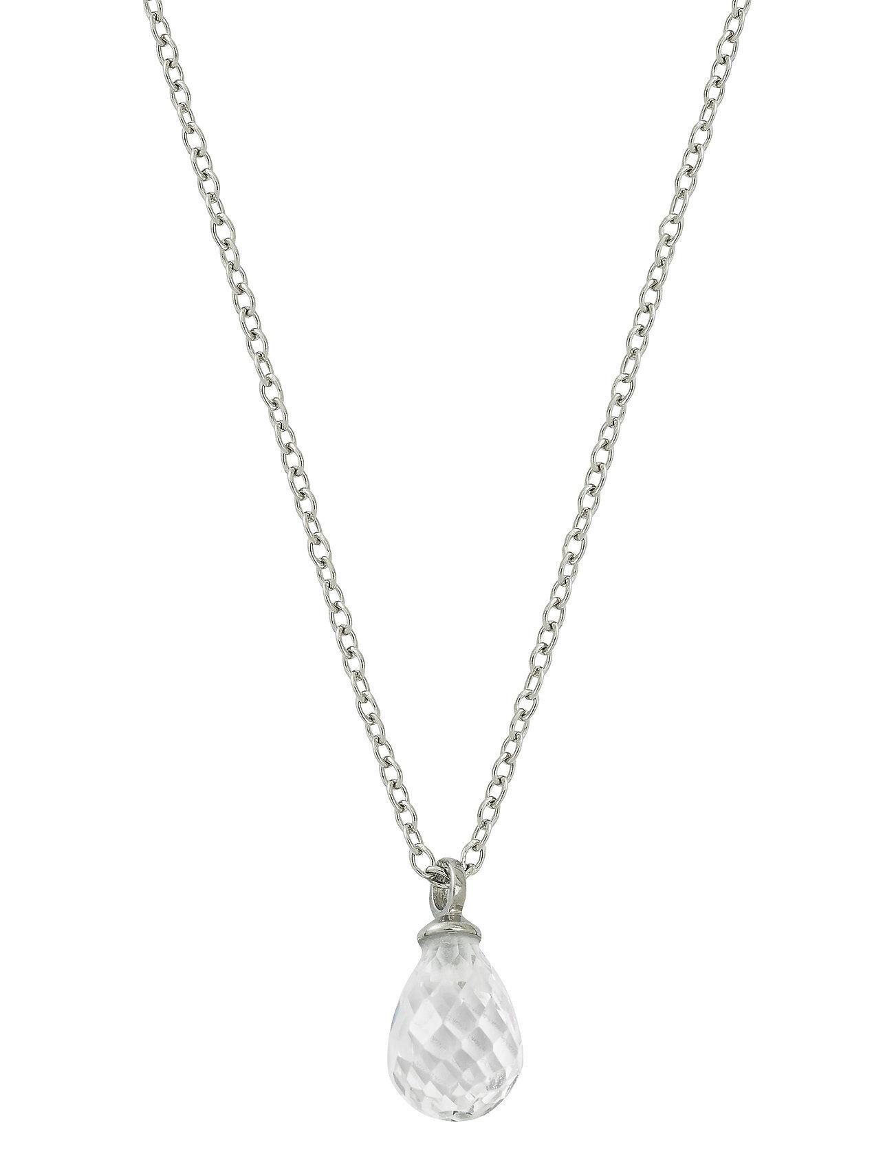 Edblad Drop Mini Necklace Cz Accessories Jewellery Necklaces Dainty Necklaces Hopea Edblad