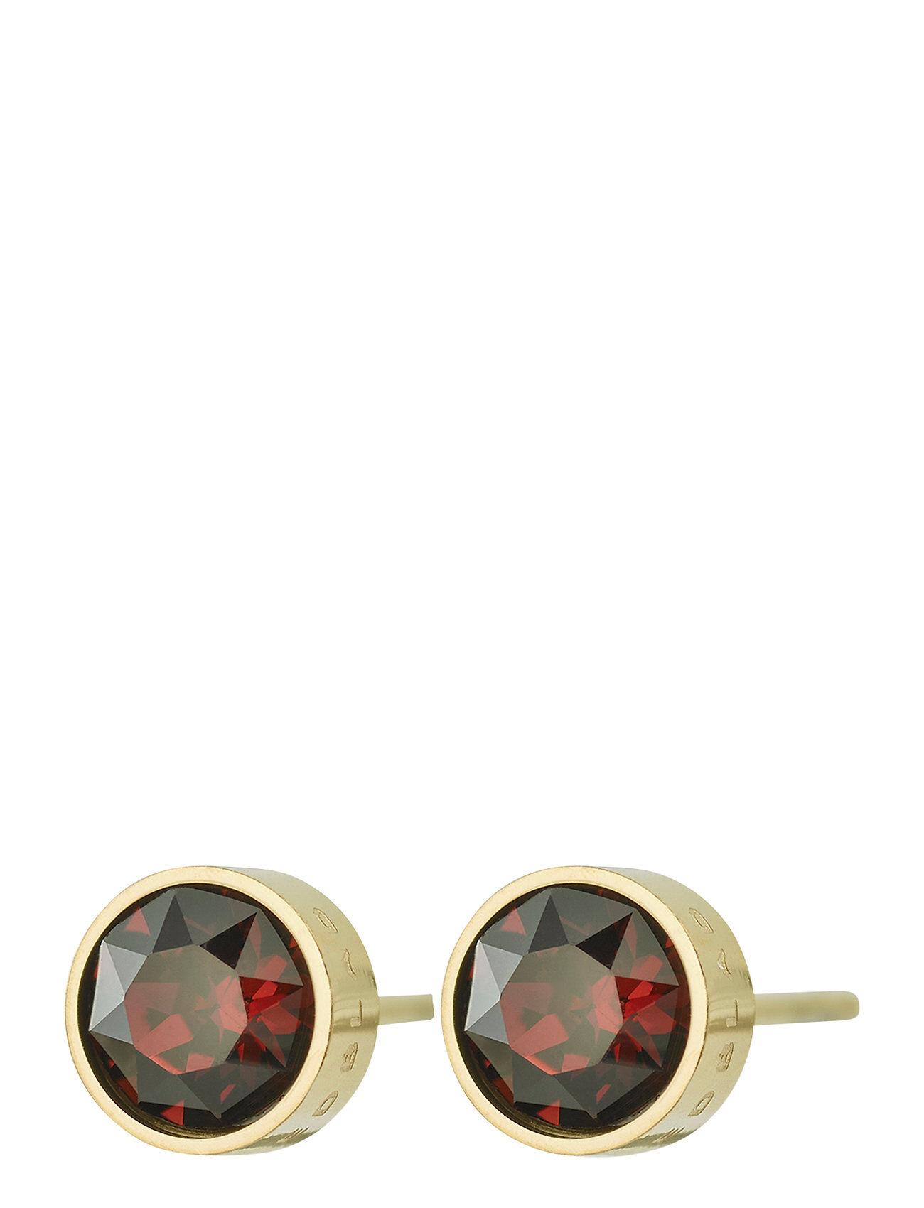 Edblad Diana Studs Plum Accessories Jewellery Earrings Studs Kulta Edblad