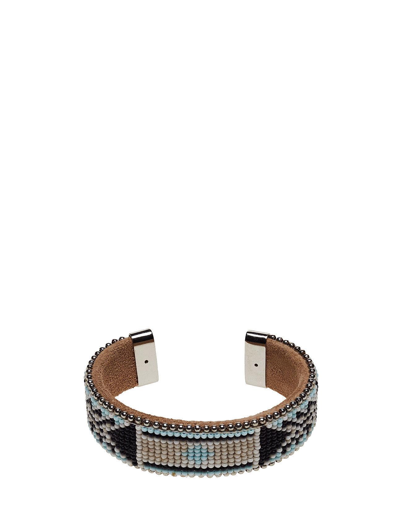 Hunkydory Naya Wide Beaded Cuff Accessories Jewellery Bracelets Bangles Musta Hunkydory